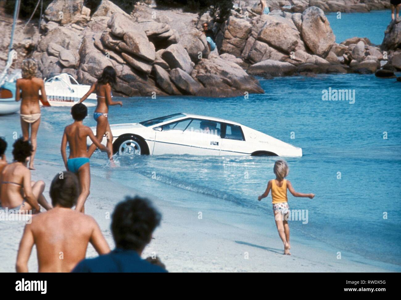 UNDERWATER LOTUS ESPRIT,  THE SPY WHO LOVED ME, 1977 - Stock Image
