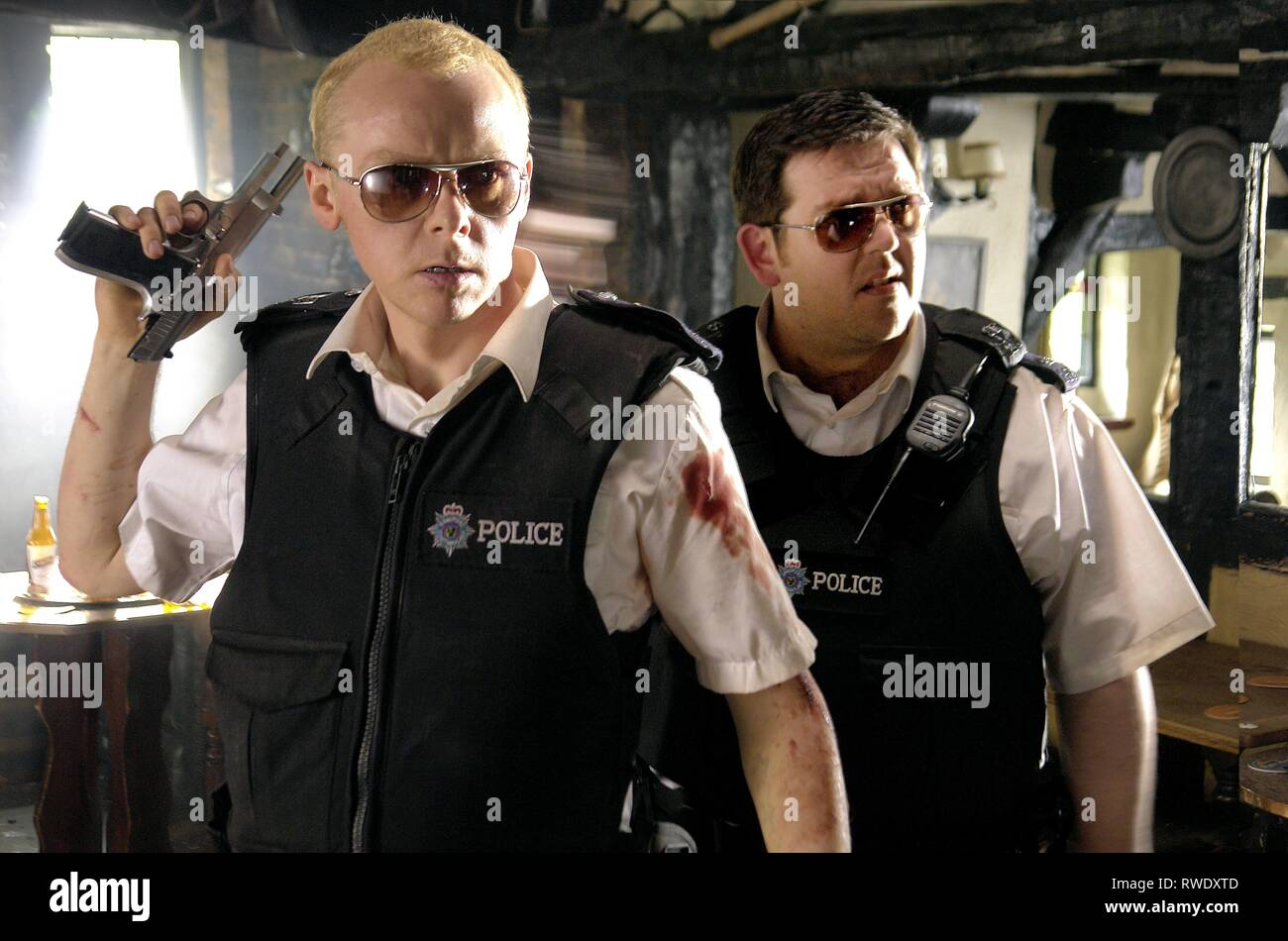 PEGG,FROST, HOT FUZZ, 2007 - Stock Image