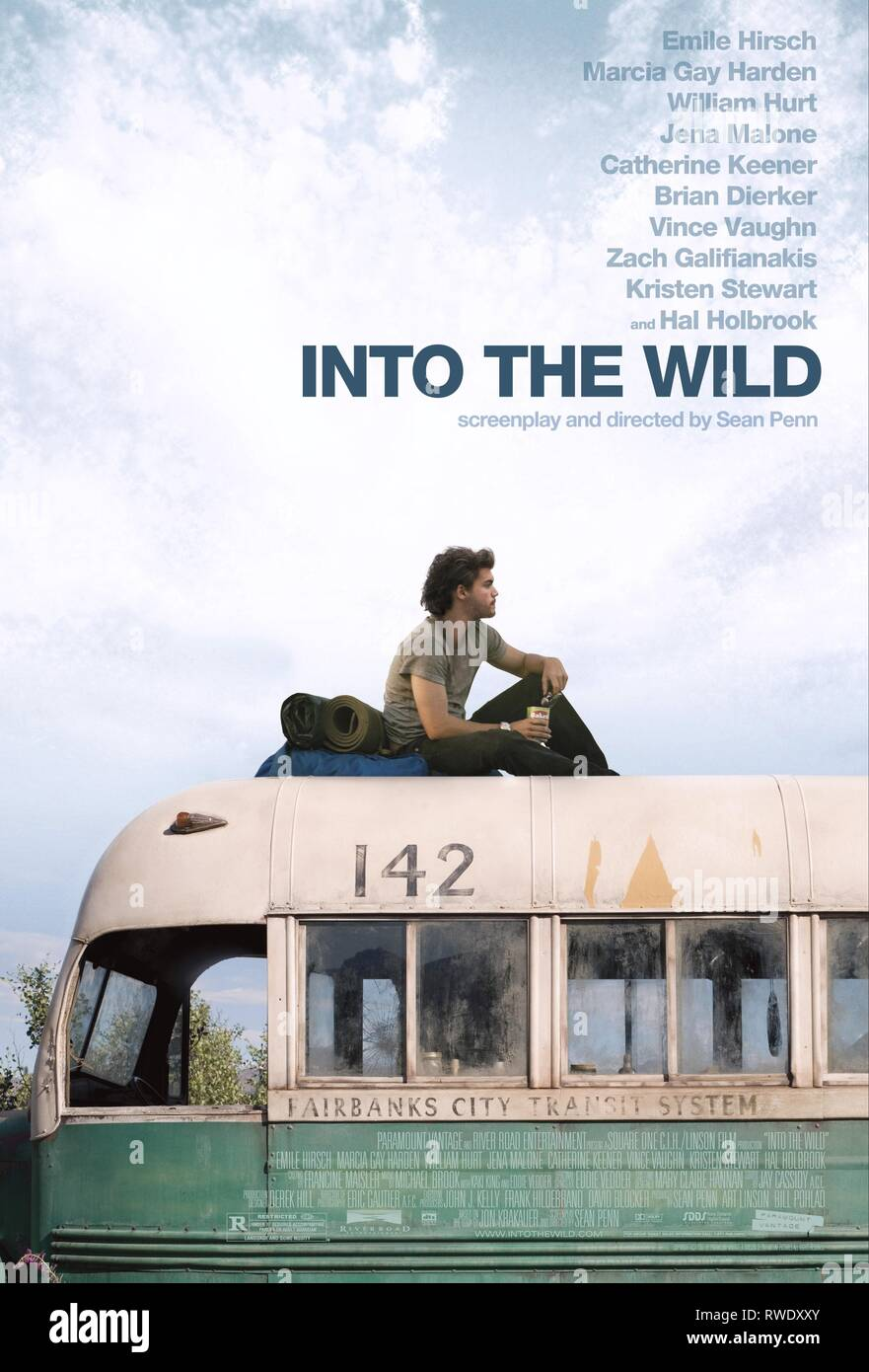 EMILE HIRSCH POSTER, INTO THE WILD, 2007 - Stock Image