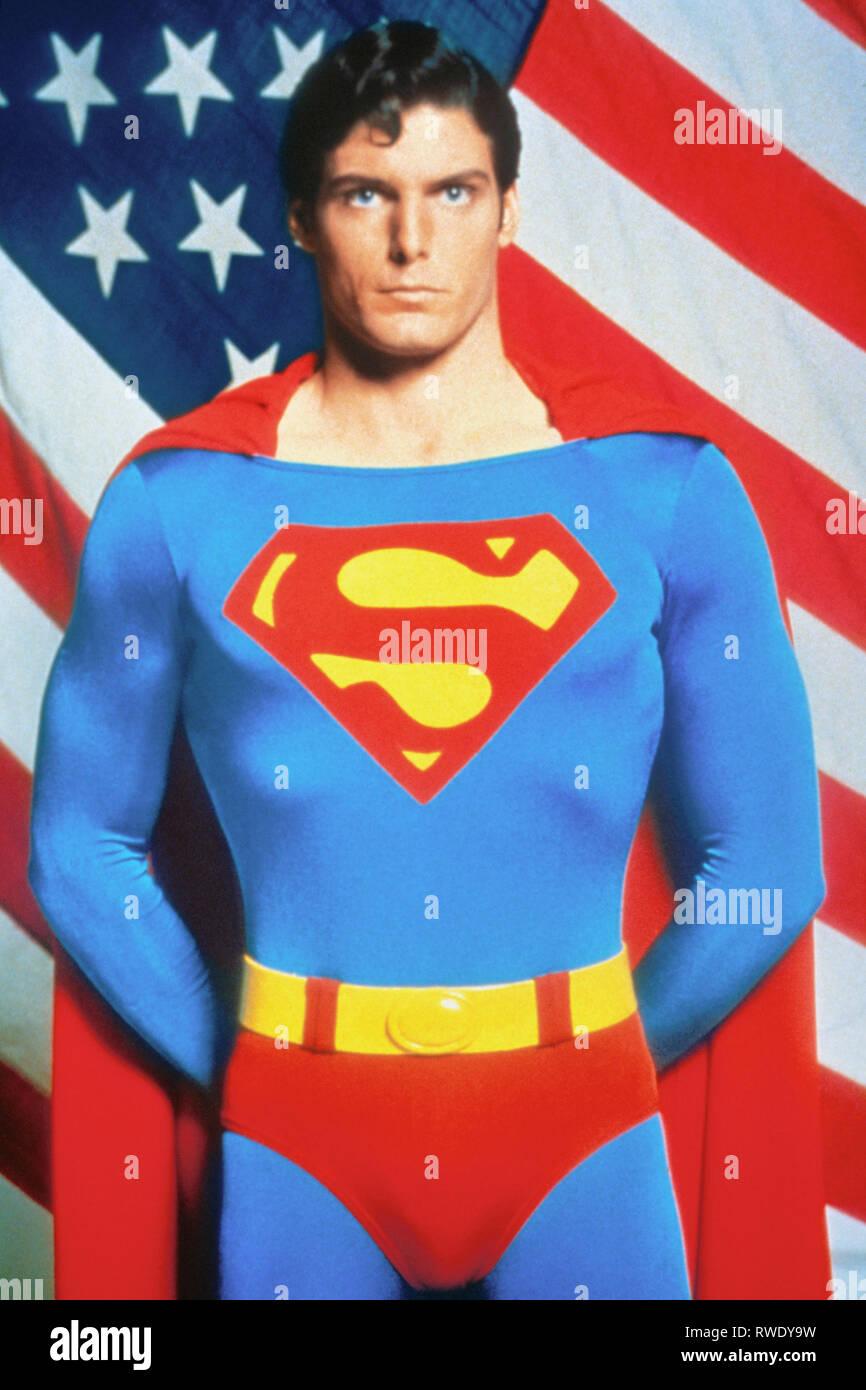 Christopher Reeve Superman 1978 Stock Photo Alamy
