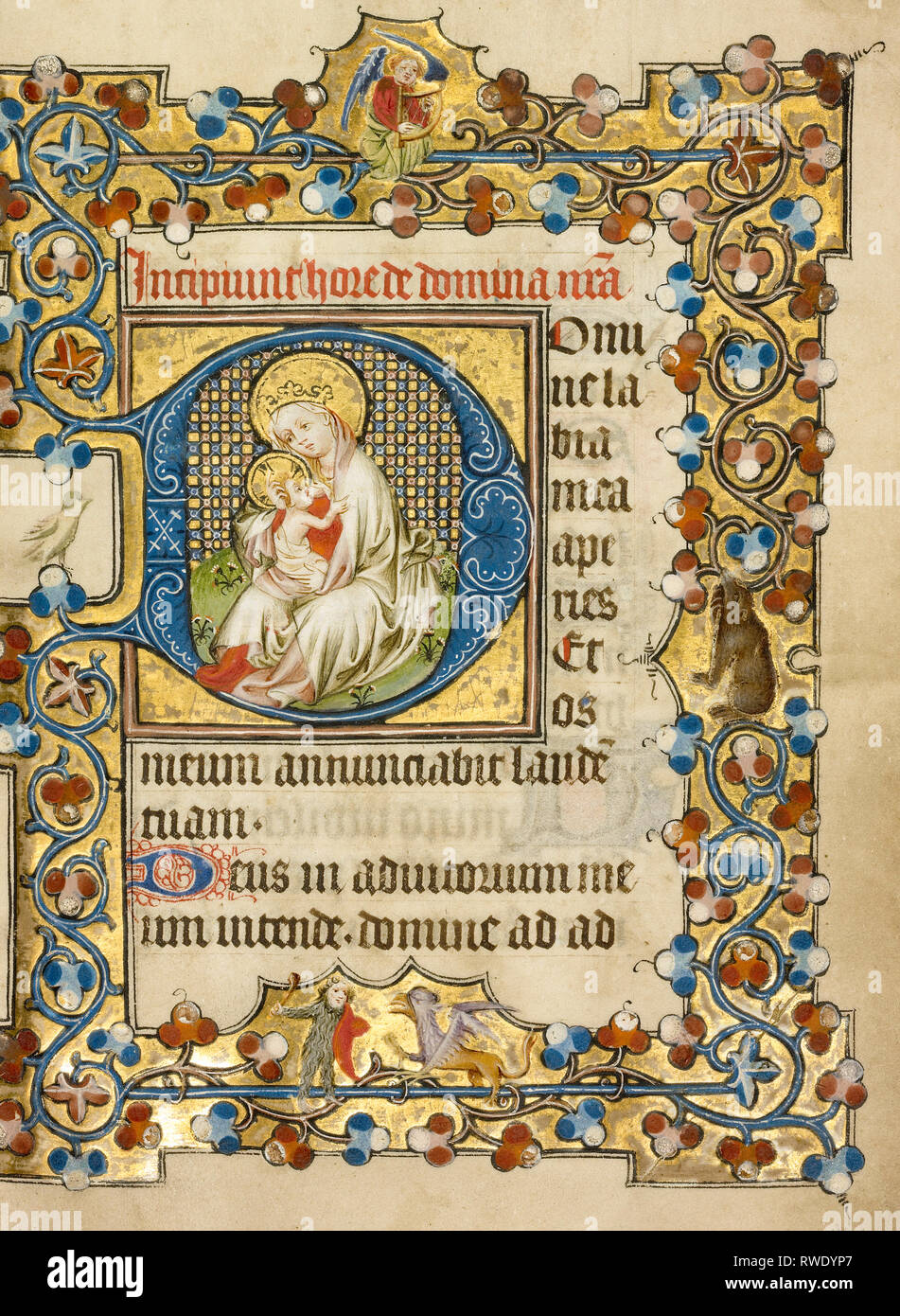 The Virgin and Child; Masters of Dirc van Delf (Dutch, active about 1400 - about 1410); Utrecht (probably), Netherlands; about 1405–1410; Tempera colo - Stock Image