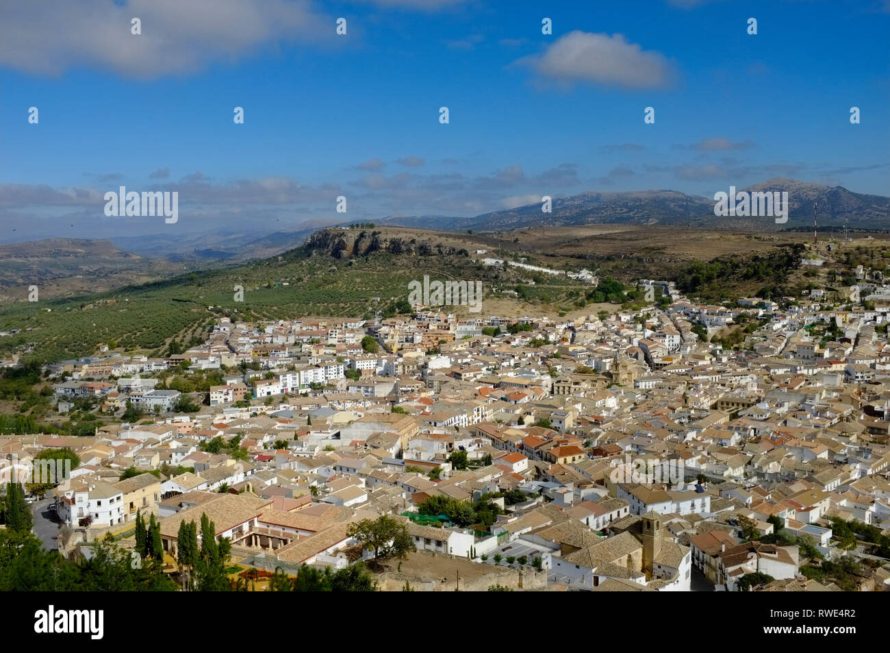 View of Alcala la Real, Jaen Province, Andalusia, Spain, taken from the Castle. - Stock Image