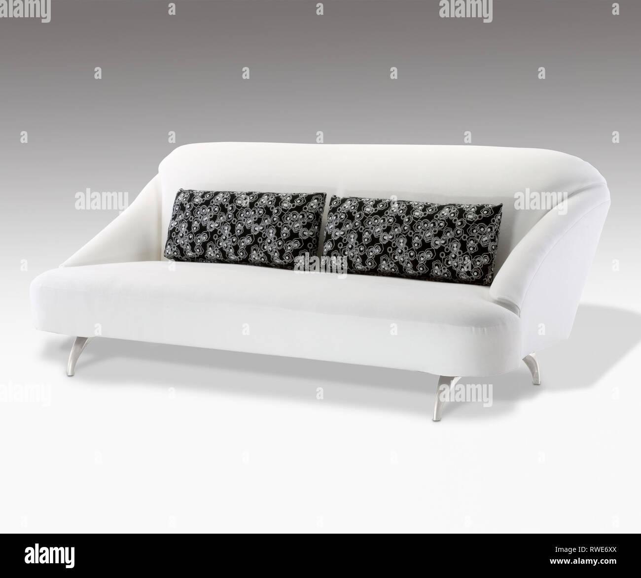 Mid Century Modern Sofa Studio Photograph On A White