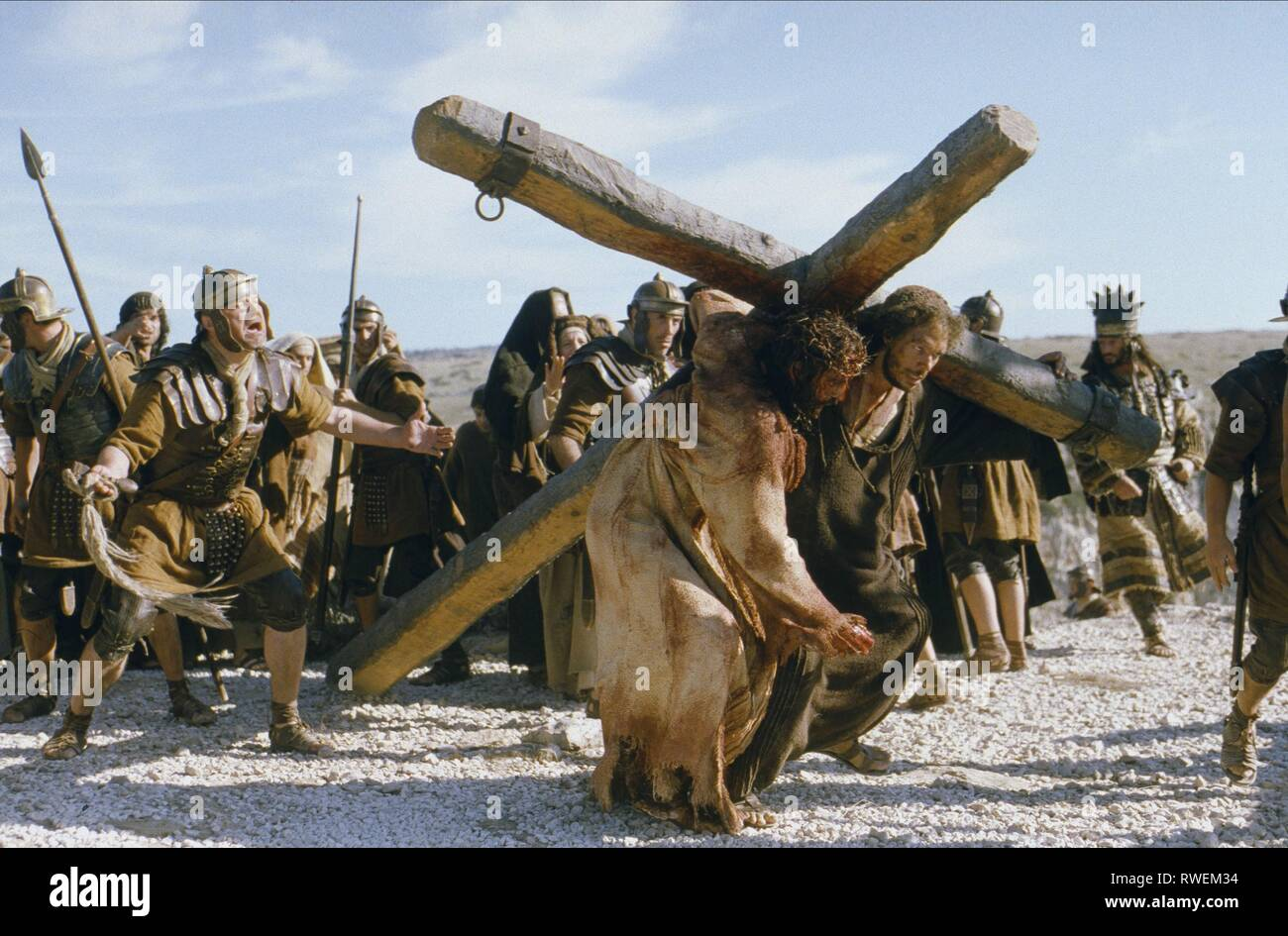 CAVIEZEL,MERZ, THE PASSION OF THE CHRIST, 2004 - Stock Image