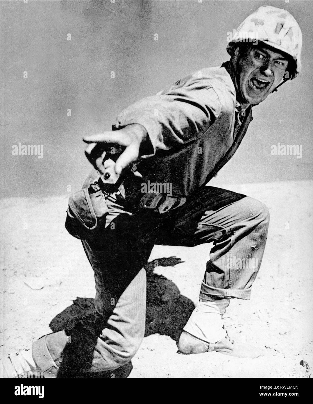 JOHN WAYNE, SANDS OF IWO JIMA, 1949 - Stock Image