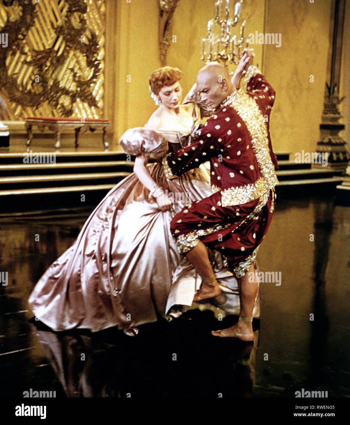 KERR,BRYNNER, THE KING AND I, 1956 Stock Photo