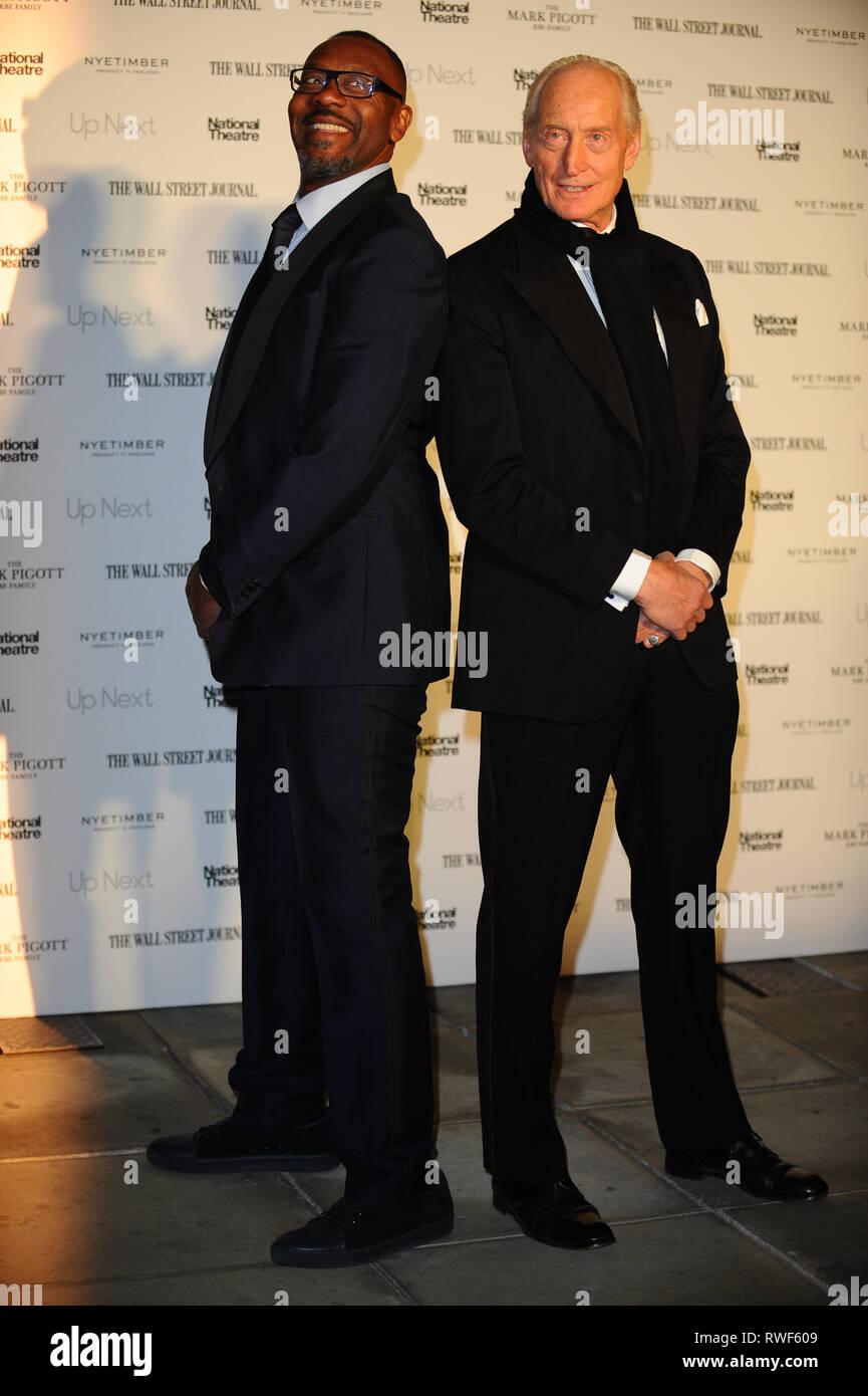 Sir Lenny Henry And Charles Dance Are Seen On The Red Carpet During The National Theatres Annual Gala At The National Theatre South Bank In London