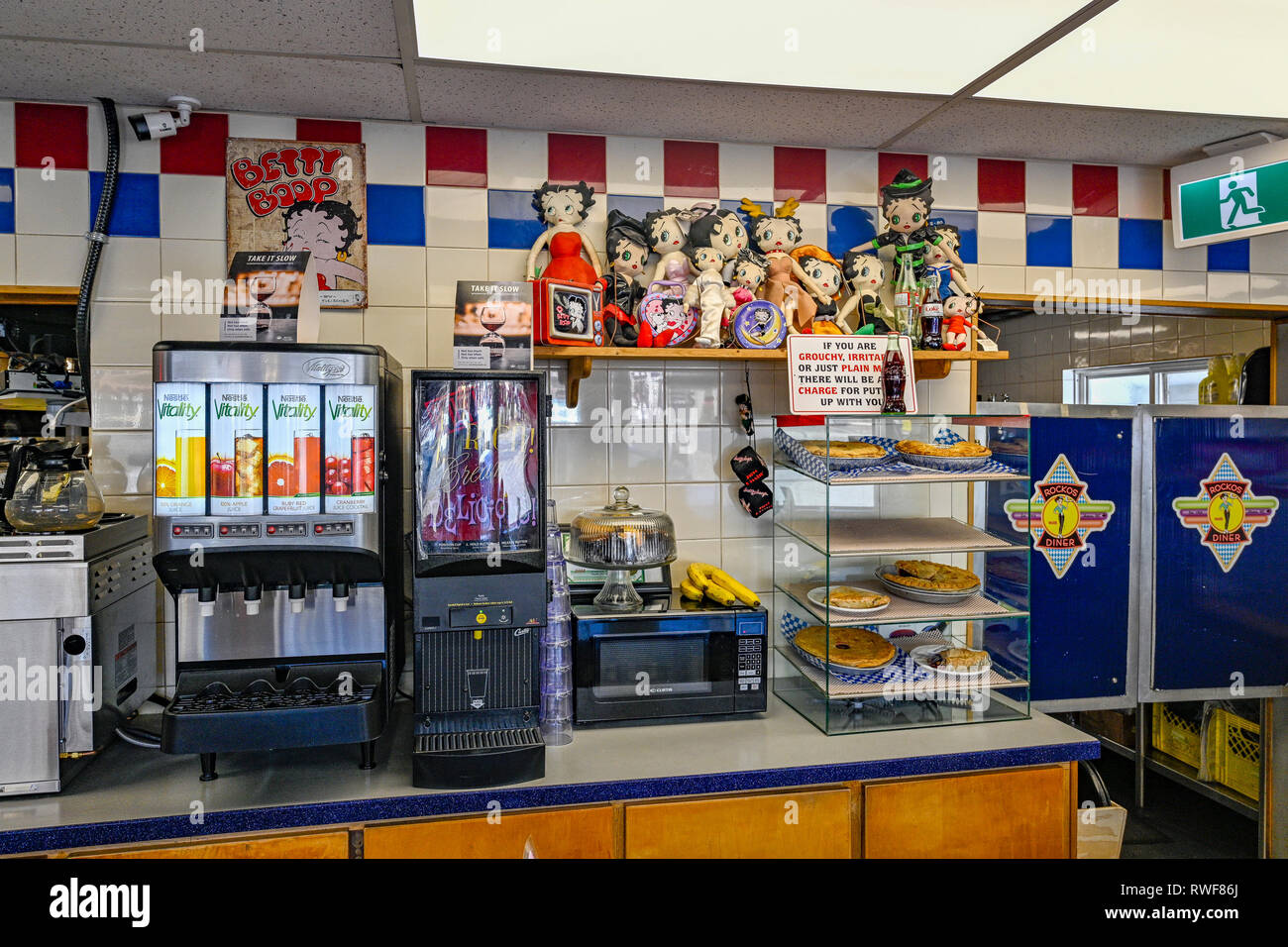 Rocko S Diner Mission British Columbia Canada Where Filming For Pop S Diner In The Tv Series Riverdale Took Place Stock Photo Alamy