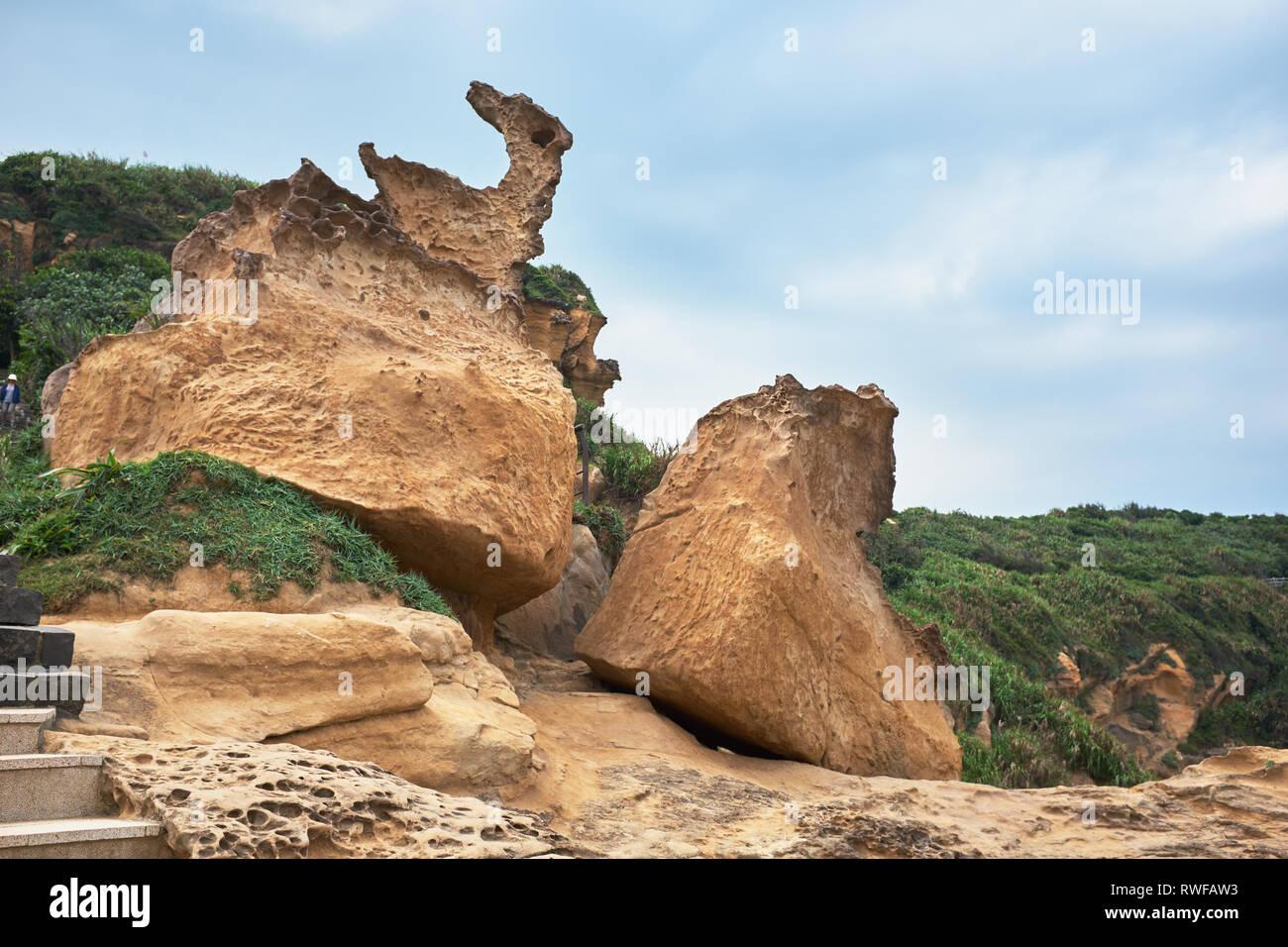 Yehliu Geopark, Taiwan - Stock Image