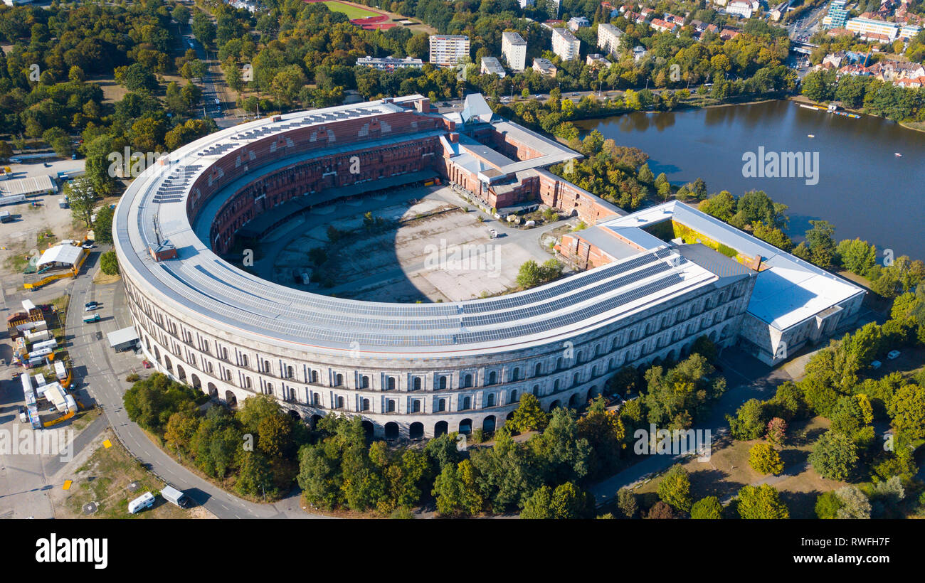 Congress Hall or Kongresshalle and Documentation Centre, Nazi party rally grounds, or Reichsparteitagsgelände, Nuremberg, Germany - Stock Image