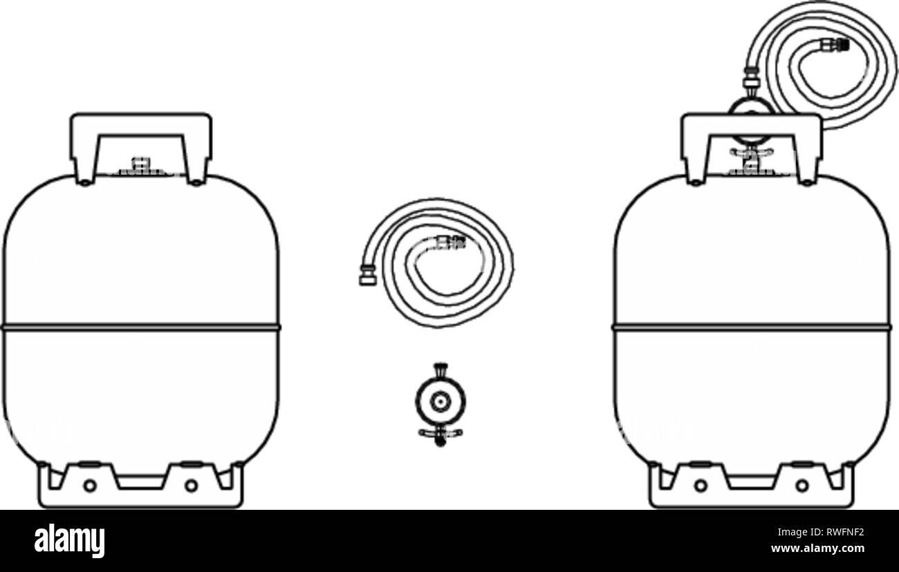Gas bottle icon Stock Vector