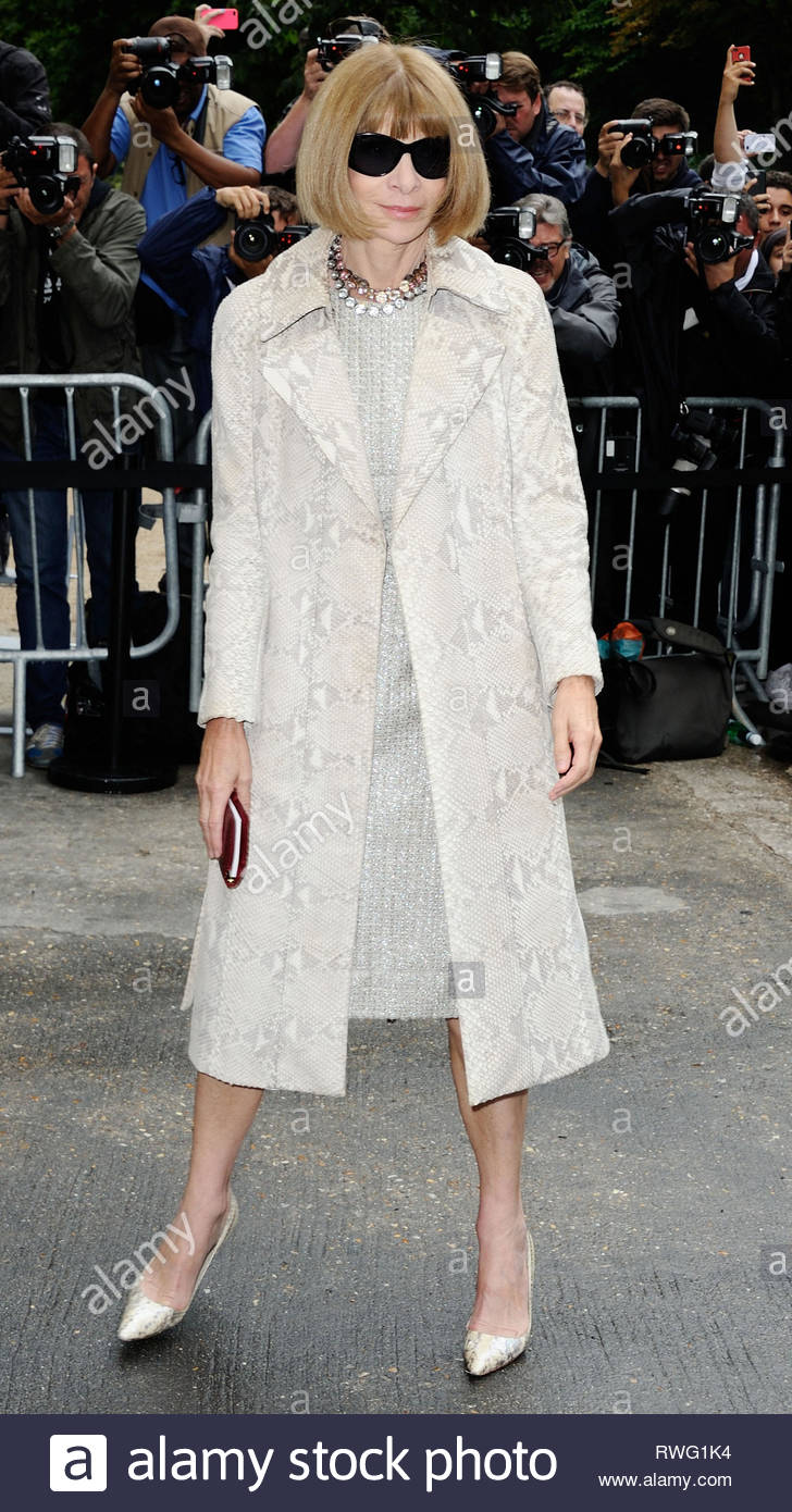 8JULY.2014 - PARIS - FRANCE ANNA WINTOUR ARRIVING TO THE CHANEL  HAUTE-COUTURE FALL-WINTER 2014-2015 FASHION SHOW HELD AT THE GRAND PALAIS  IN PARIS 751f30e40c4d