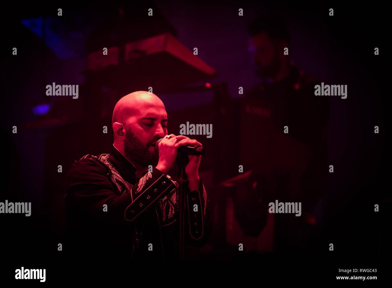 Giuliano Sangiorgi And His Band Negramaro Performs Live In Rome At Palazzo Dello Sport For Amore Che Torni Tour Indoor 2019 Photo By Danilo D Auria Pacific Press Stock Photo Alamy
