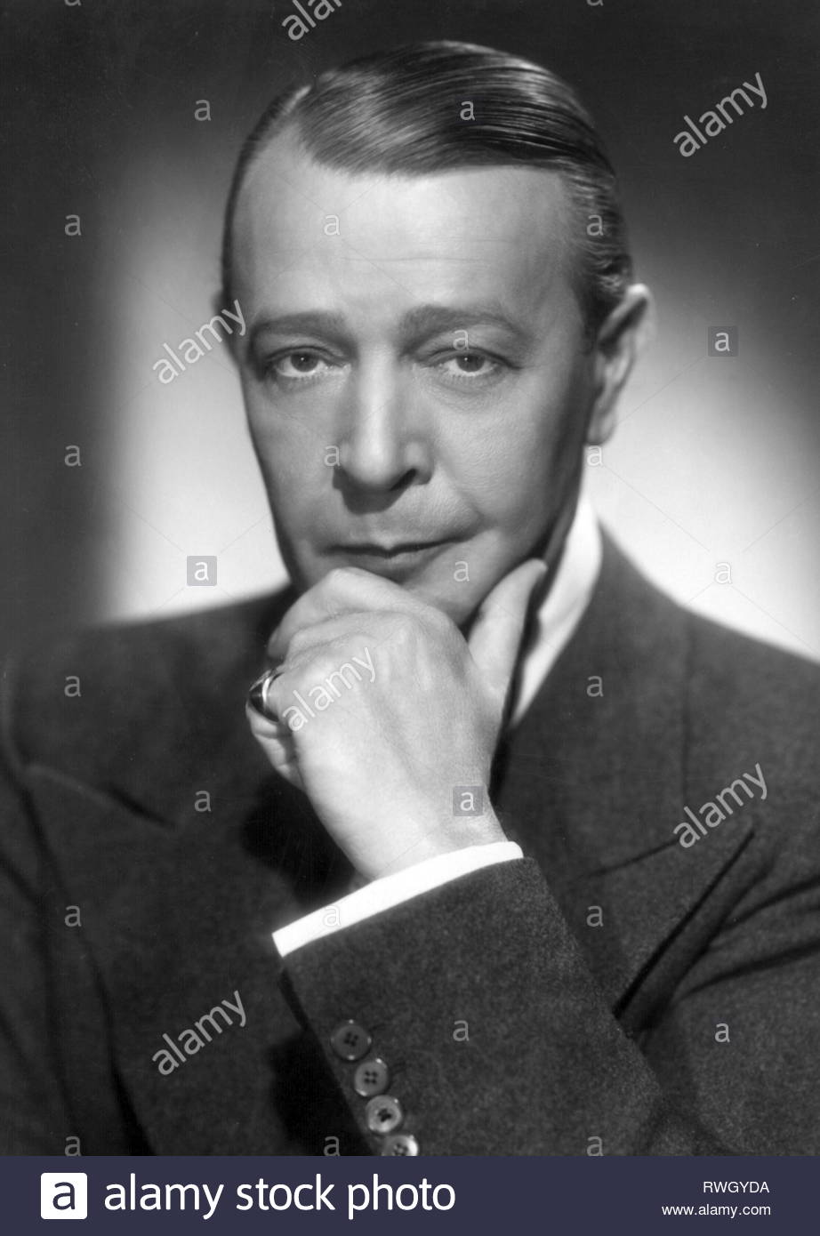 Alexander, Georg, 3.4.1888 - 30.10.1945, German actor, portrait, 1930s, Additional-Rights-Clearance-Info-Not-Available - Stock Image