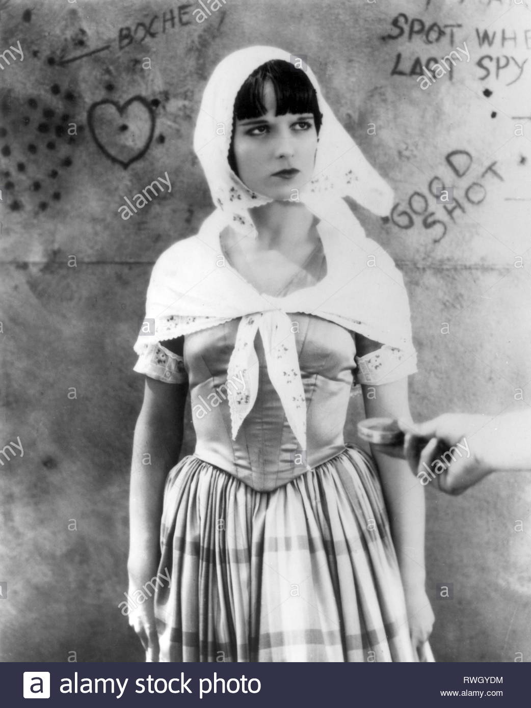 Brooks, Louise, 14.11.1906 - 8.8.1985, American actress, half-length, in scene from unknown movie, 1920s, Additional-Rights-Clearance-Info-Not-Available - Stock Image
