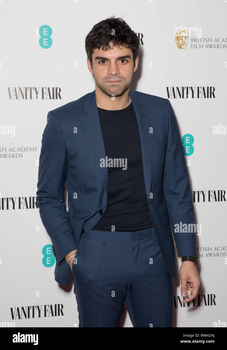Vanity Fair EE Rising Star Party at The Baptist at L'Oscar Hotel in Holborn, London.  Featuring: Sean Teale Where: London, United Kingdom When: 31 Jan 2019 Credit: Phil Lewis/WENN.com - Stock Image