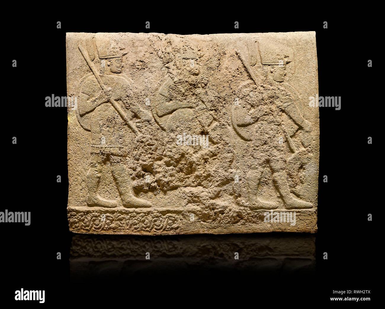 Hittite sculpted orthostats of Long Wall Limestone, Karkamıs, (Kargamıs), Carchemish (Karkemish), 900-700 BC. Anatolian Civilisations Museum, Ankara,  Stock Photo