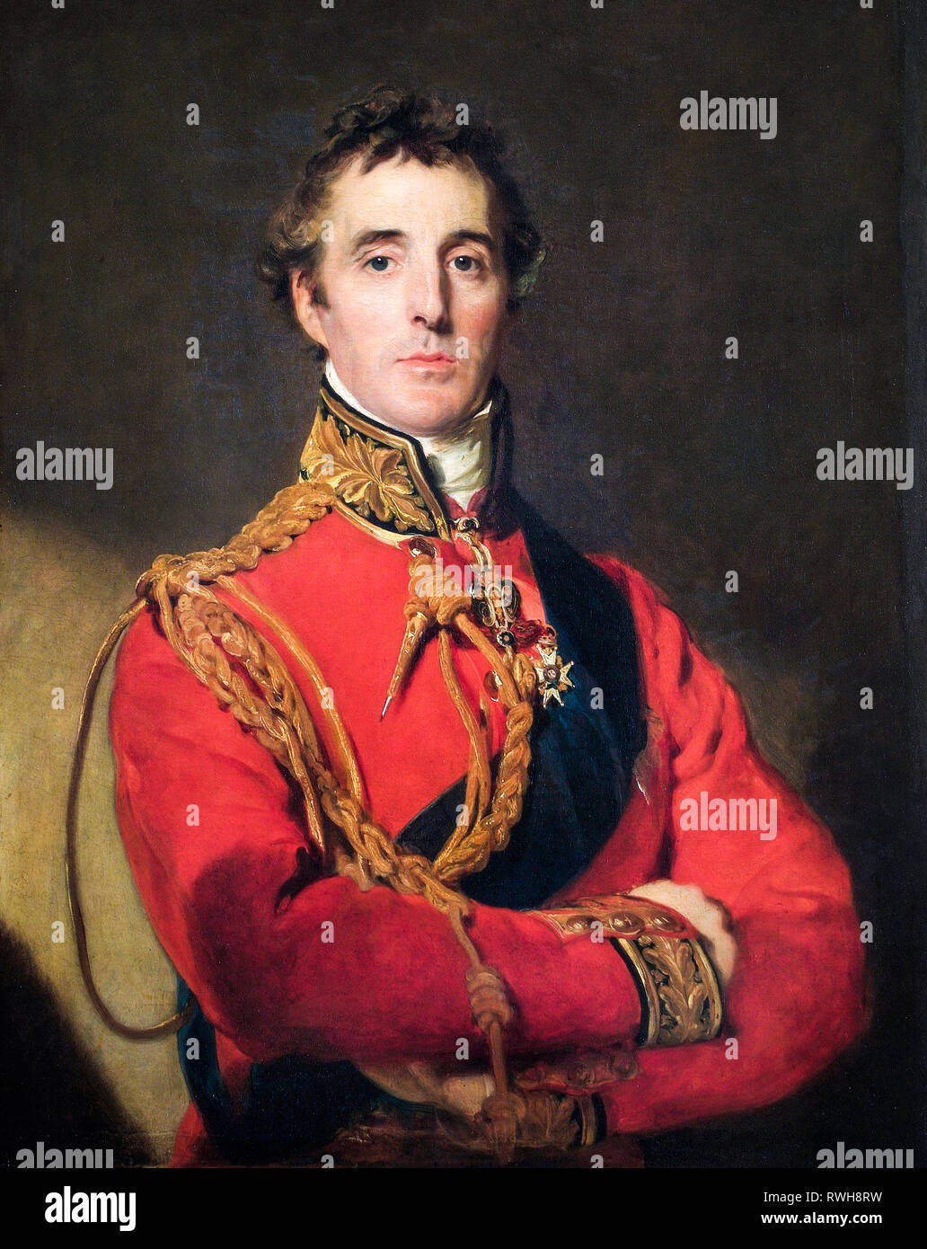 Arthur Wellesley, 1st Duke of Wellington (1769-1852), portrait painting by Thomas Lawrence, c. 1815-1816 - Stock Image
