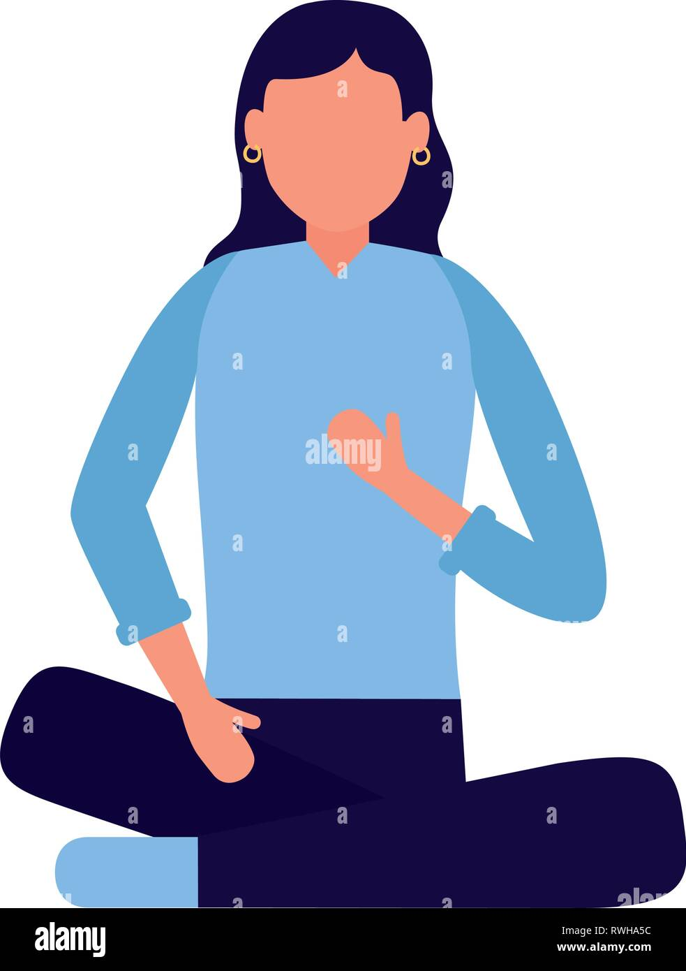 woman sitting character - Stock Vector