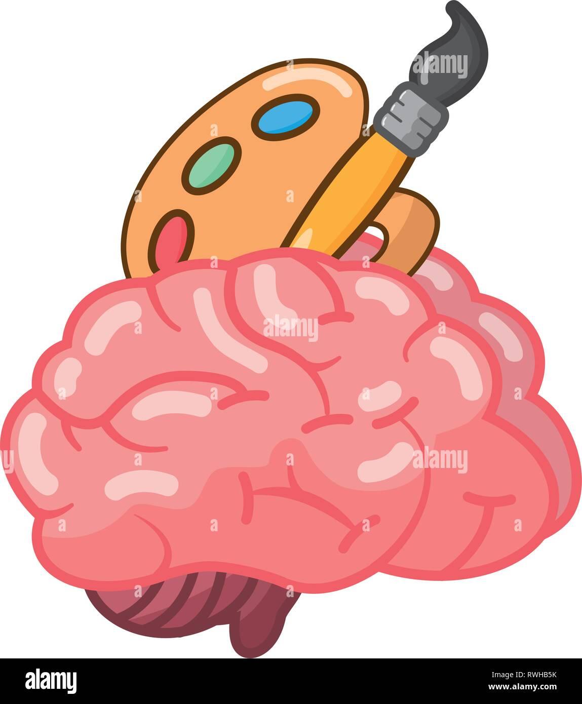 brain idea creativity - Stock Image