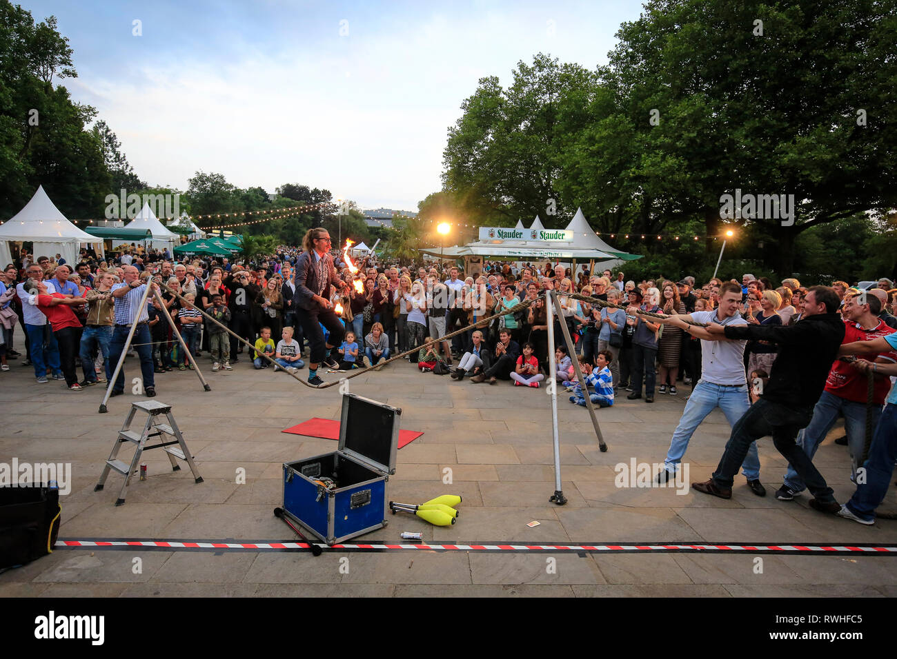 Essen, North Rhine-Westphalia, Ruhr area, Germany - Park festival in the Grugapark, here on the occasion of the Essen 2017 Green Capital of Europe. Es - Stock Image
