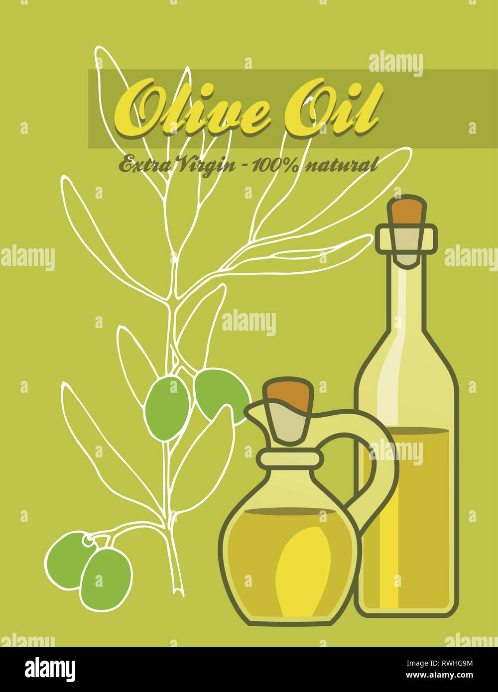 Oil Olive - Stock Vector