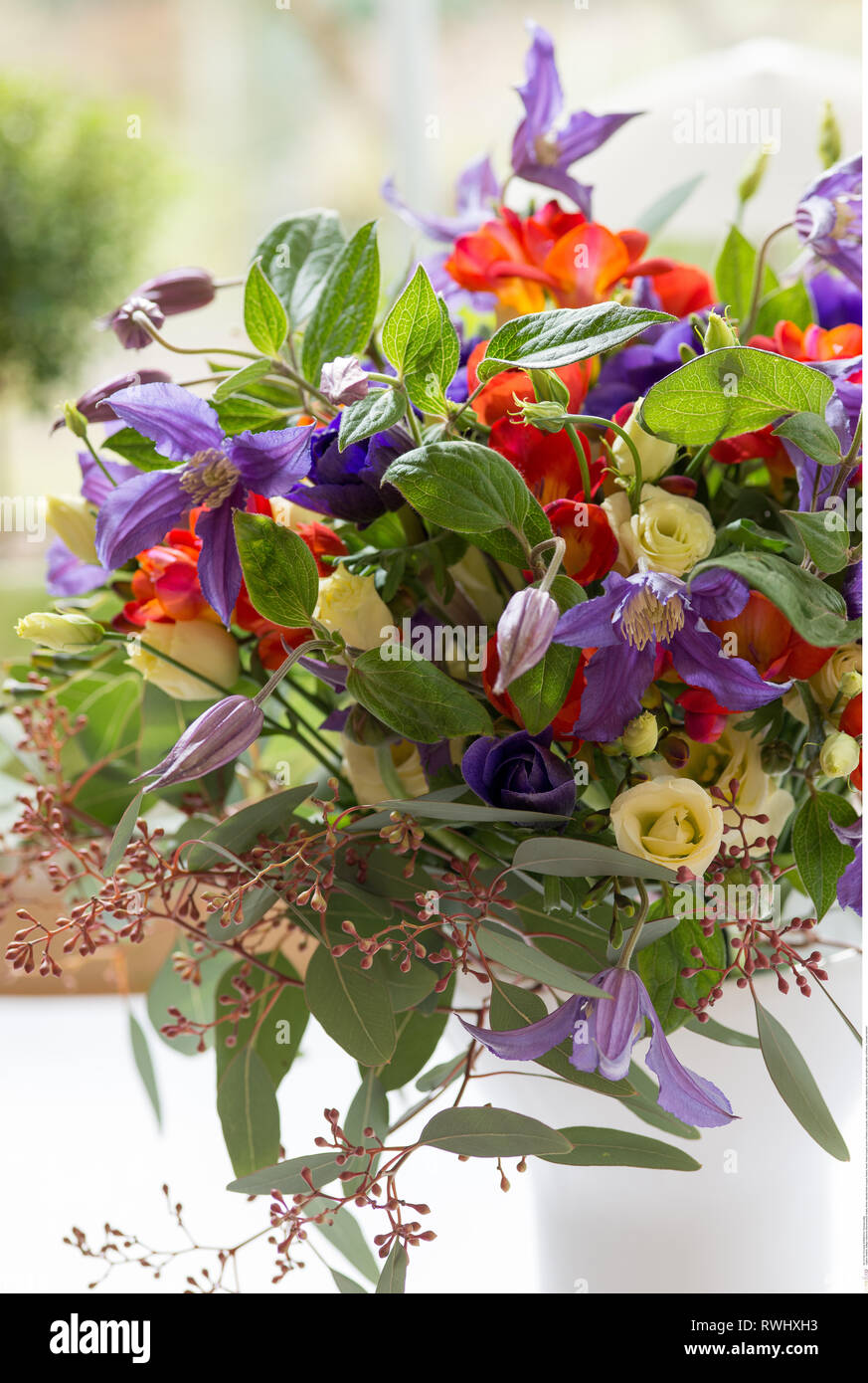 botany, filmier naturally flower bouquet, Caution! For Greetingcard-Use / Postcard-Use In German Speaking Countries Certain Restrictions May Apply - Stock Image