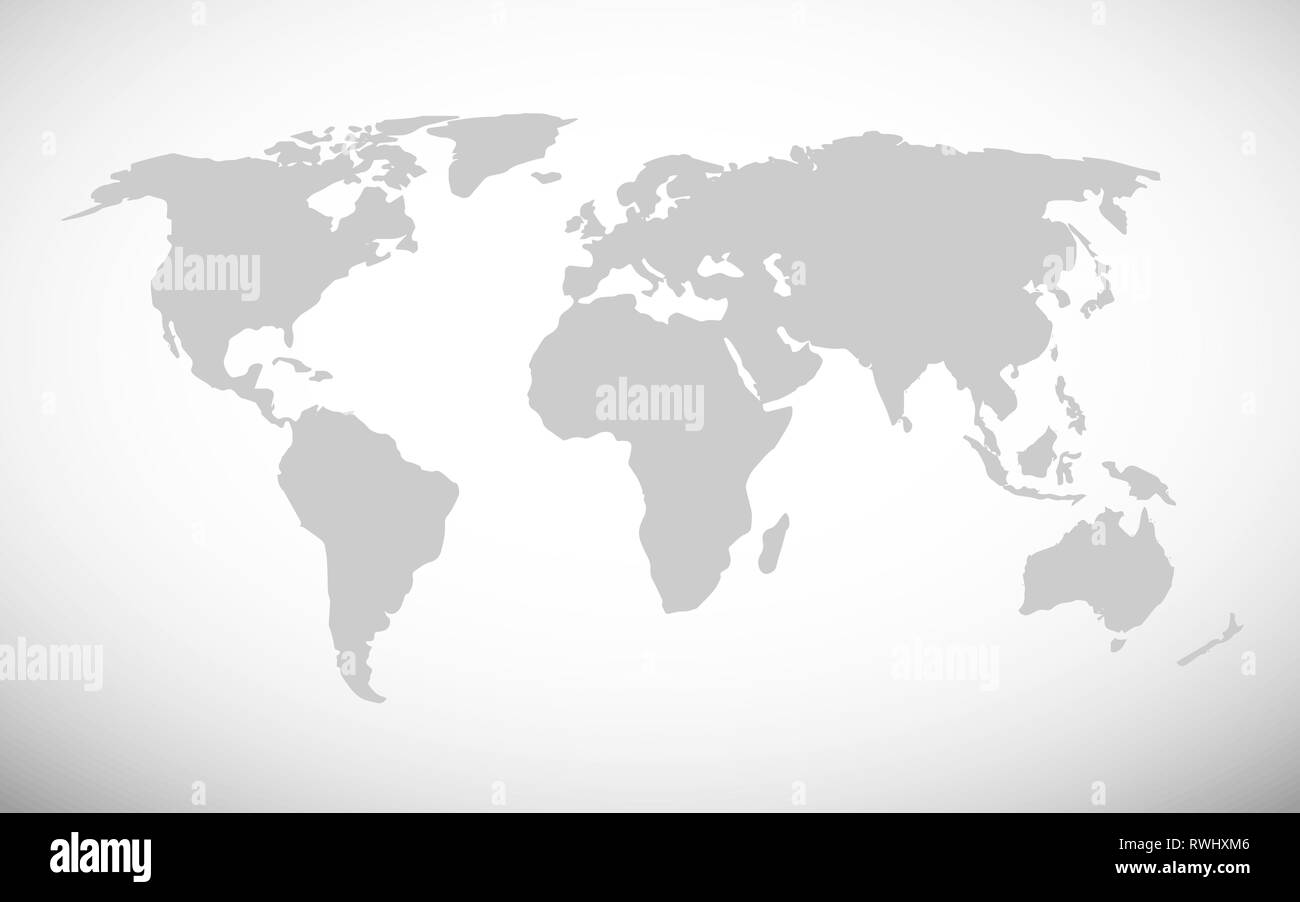 Map Of The World Simple.Simple World Map Vector Illustration Stock Vector Art Illustration
