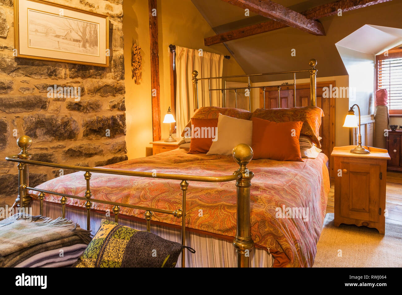 Picture of: Brass Bed High Resolution Stock Photography And Images Alamy