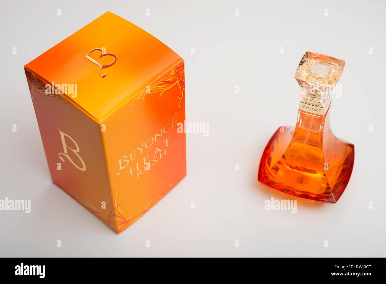 Beyonce Heat Rush perfume - Stock Image