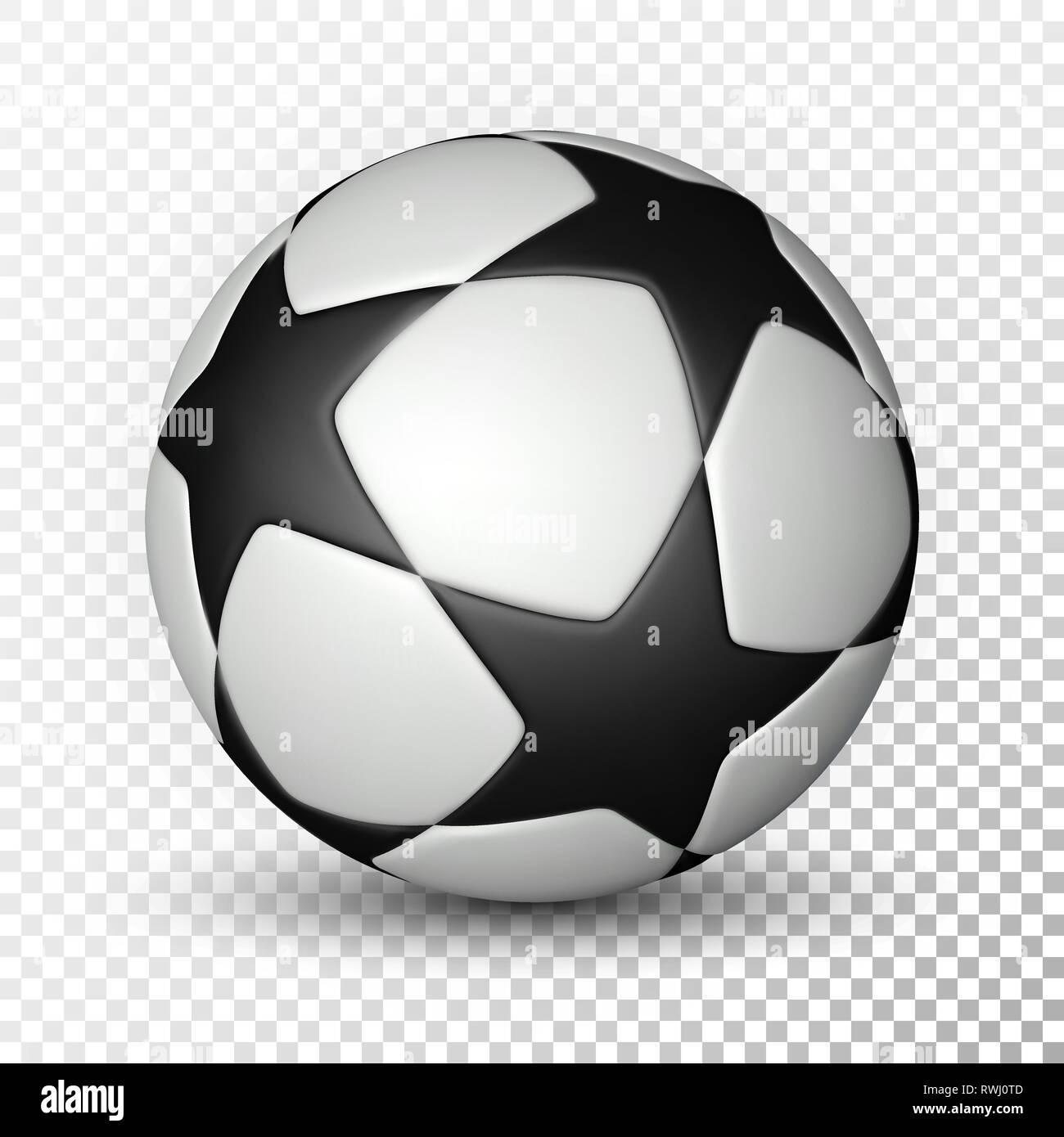 Football Ball Soccer Ball On Transparent Background Vector Illustration Stock Vector Image Art Alamy