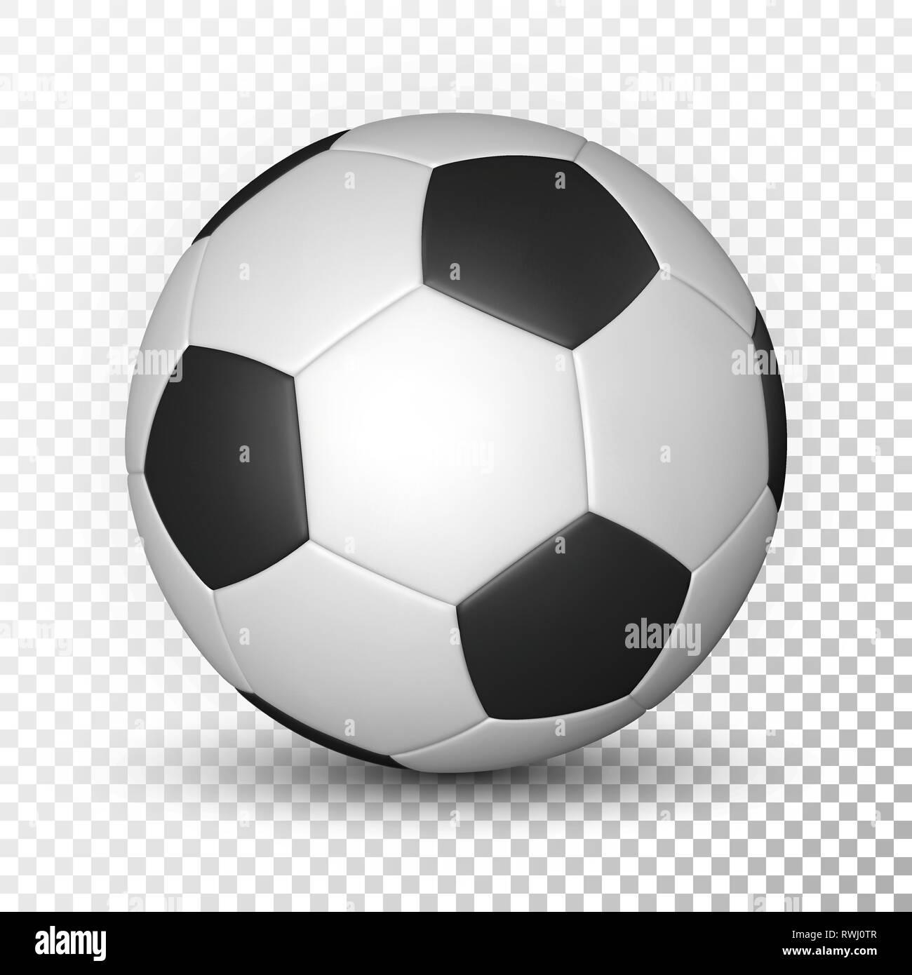 Football Ball Soccer Ball Mockup On Transparent Background Vector Illustration Stock Vector Image Art Alamy