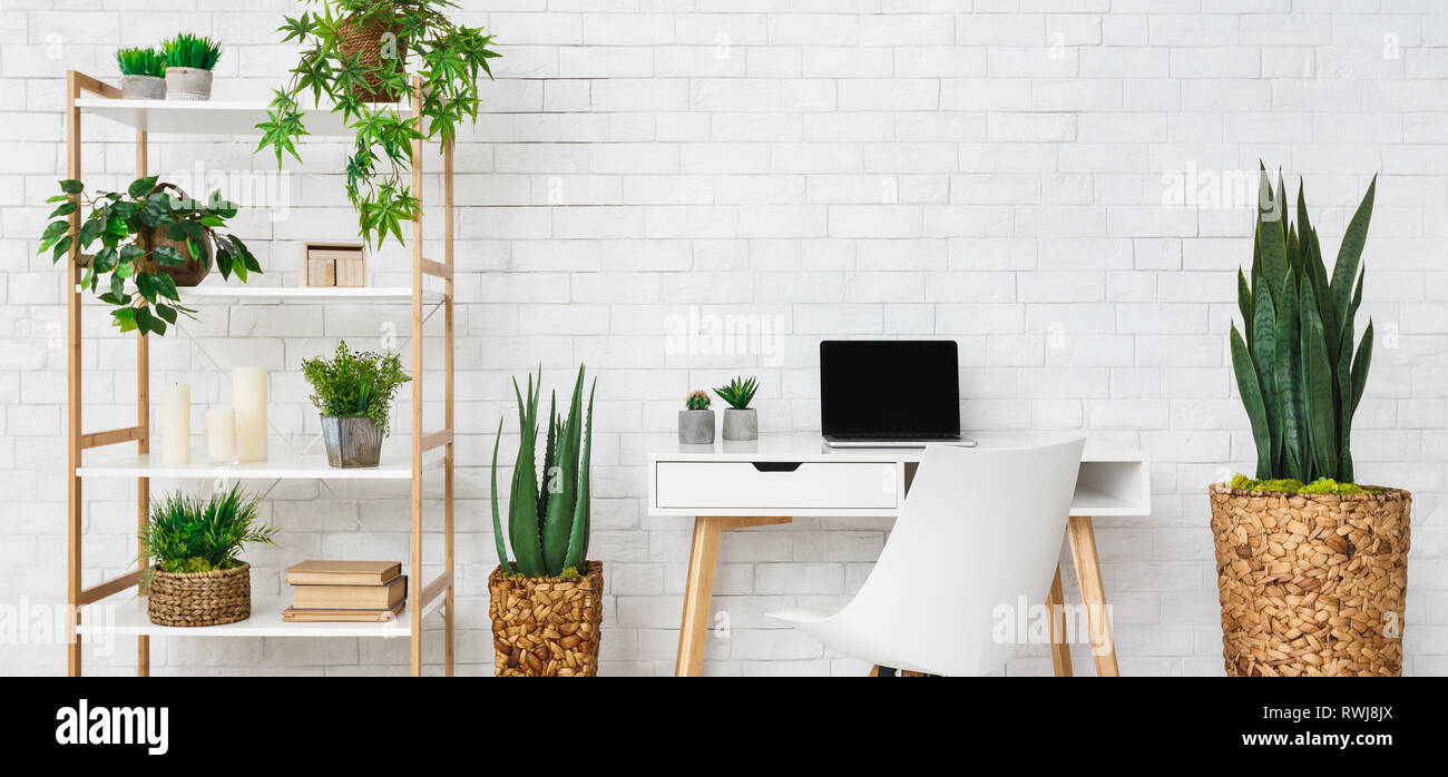 Modern home work place - Stock Image