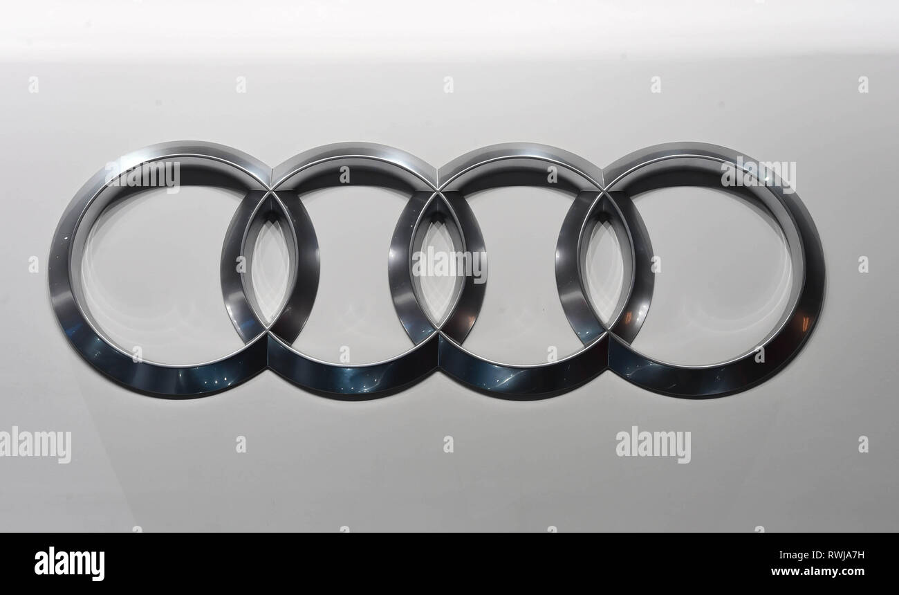 Genf Switzerland 06th Mar 2019 An Audi Logo Taken On The Second