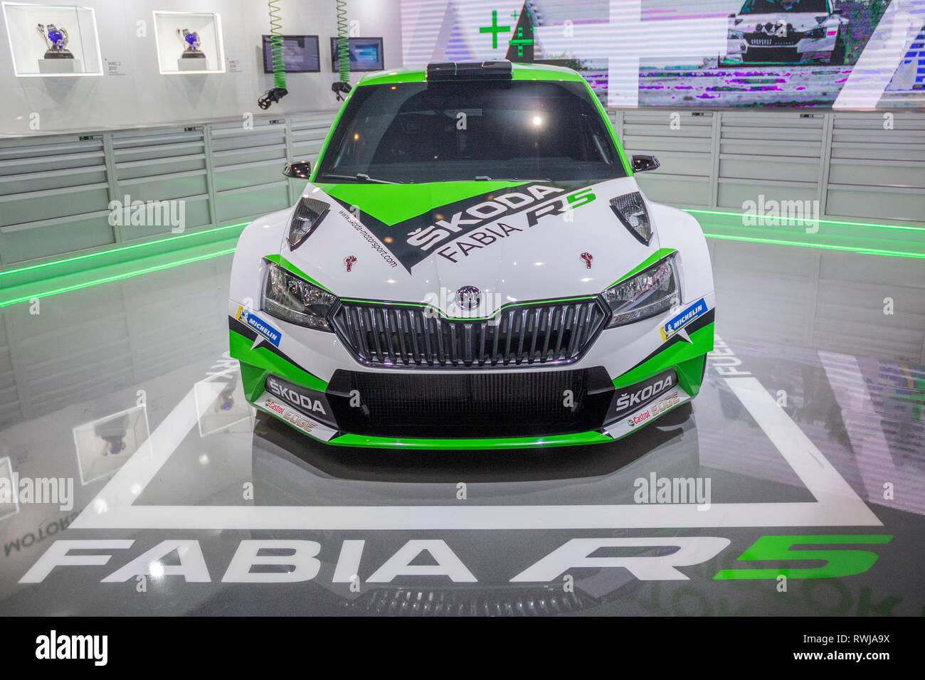 Rally Motor Credit >> Geneva Switzerland 6th March 2019 The New Skodia Fabia