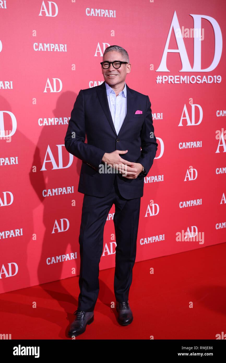 Madrid, Spain  06th Mar, 2019  Boris Izaguirre, TV presenter and