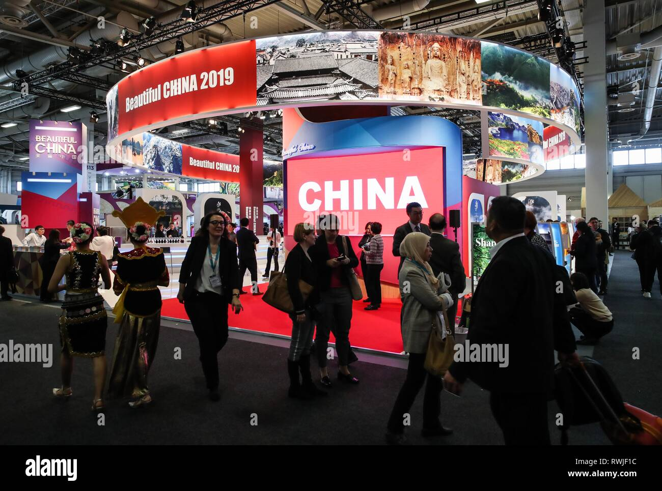 Berlin, Germany  6th Mar, 2019  People visit the booth of
