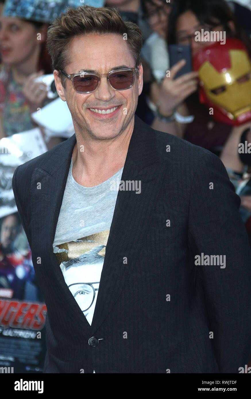 Apr 21, 2015 - London, England, UK - The Avengers: Age Of Ultron European Premiere, Vue Cinema, Westfield - Red Carpet Arrivals Photo Shows: Robert Do Stock Photo