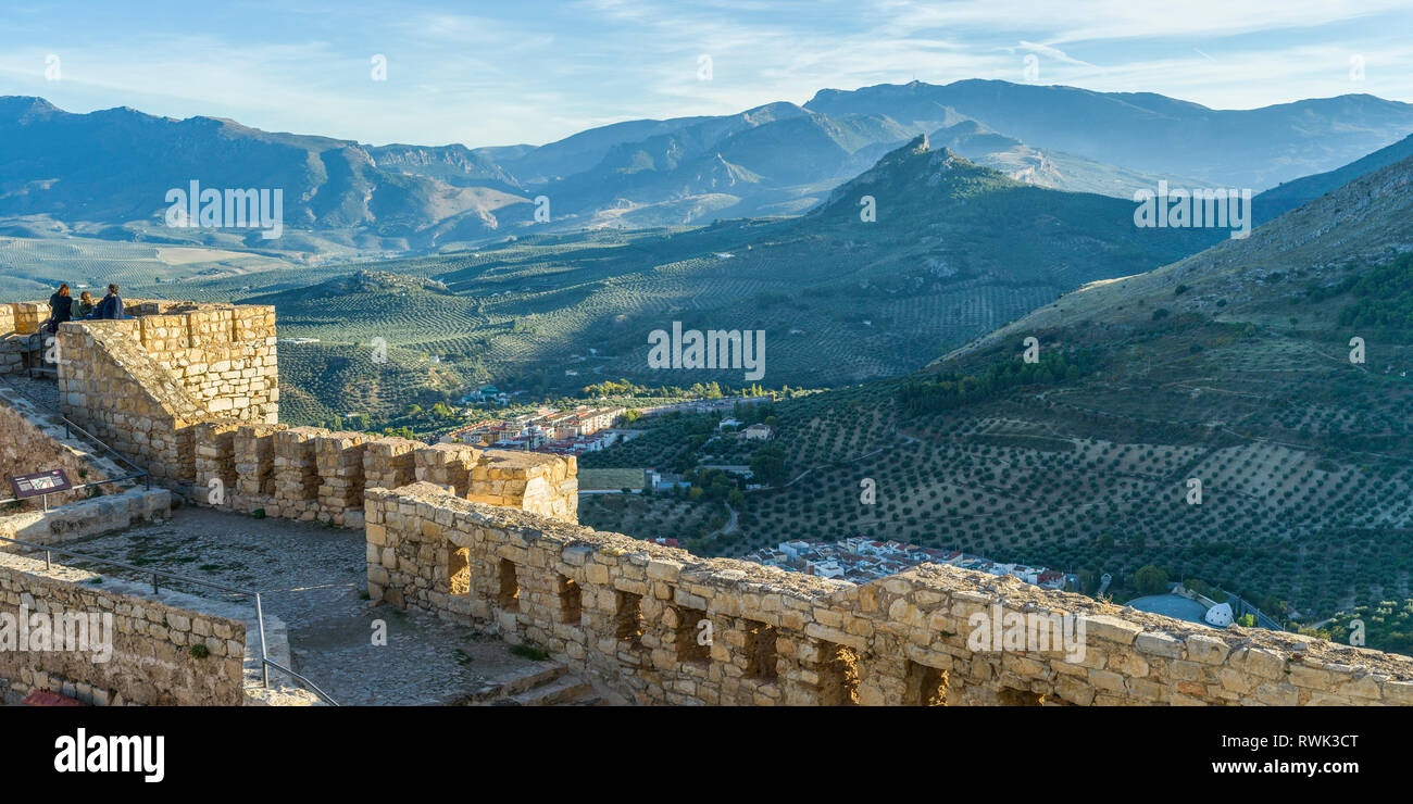 Saint Catalina's Castle; Jaen, Spain - Stock Image
