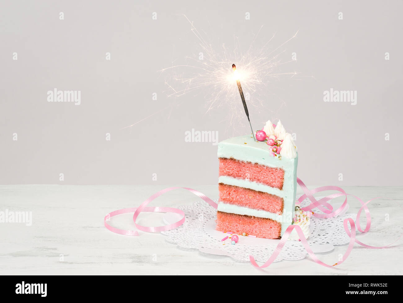 Groovy Slice Of Birthday Cake Over White Background With Pink Layers And Funny Birthday Cards Online Fluifree Goldxyz