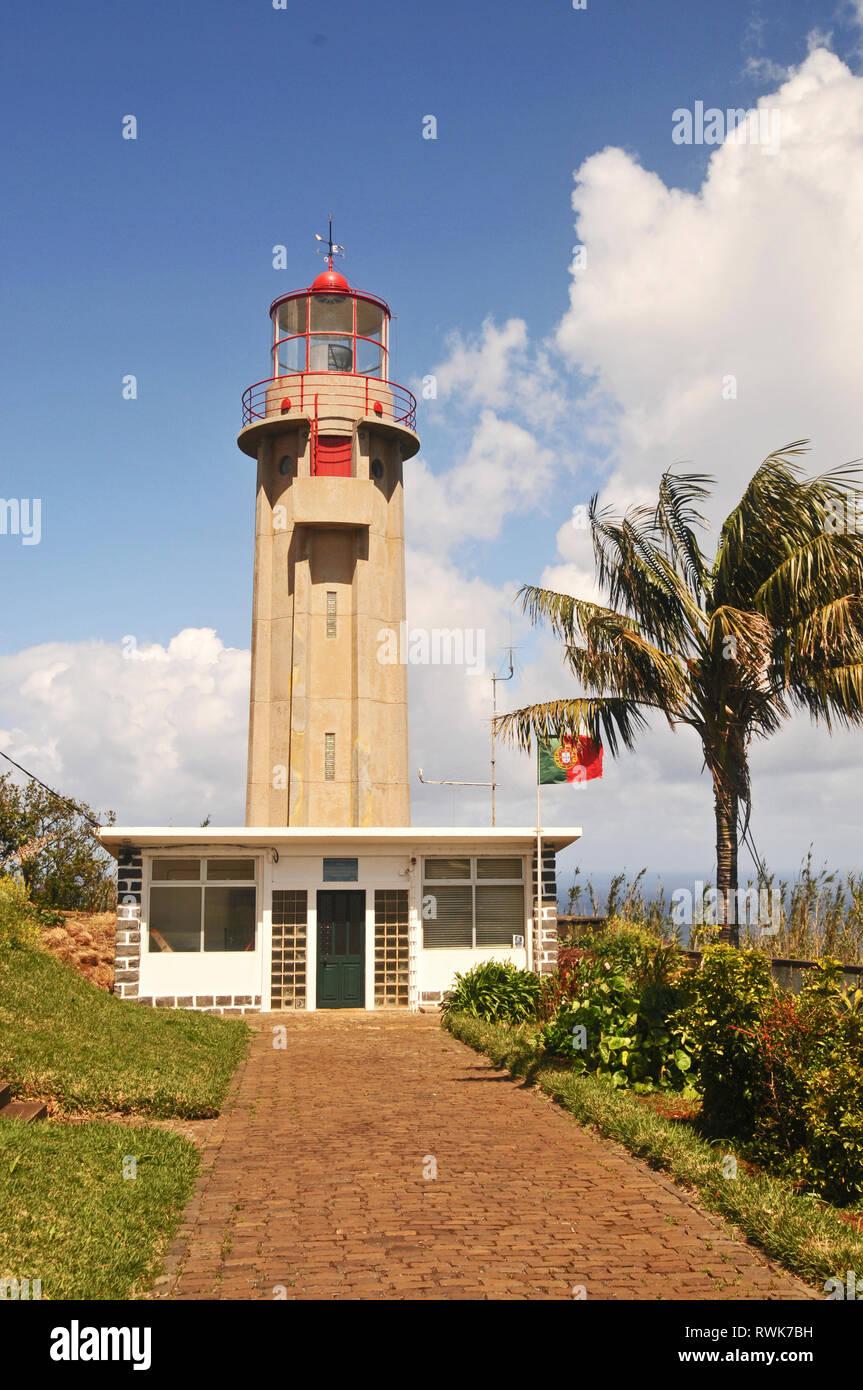 Ponta de São Jorge Lighthouse, Madeira, Portugal - Stock Image