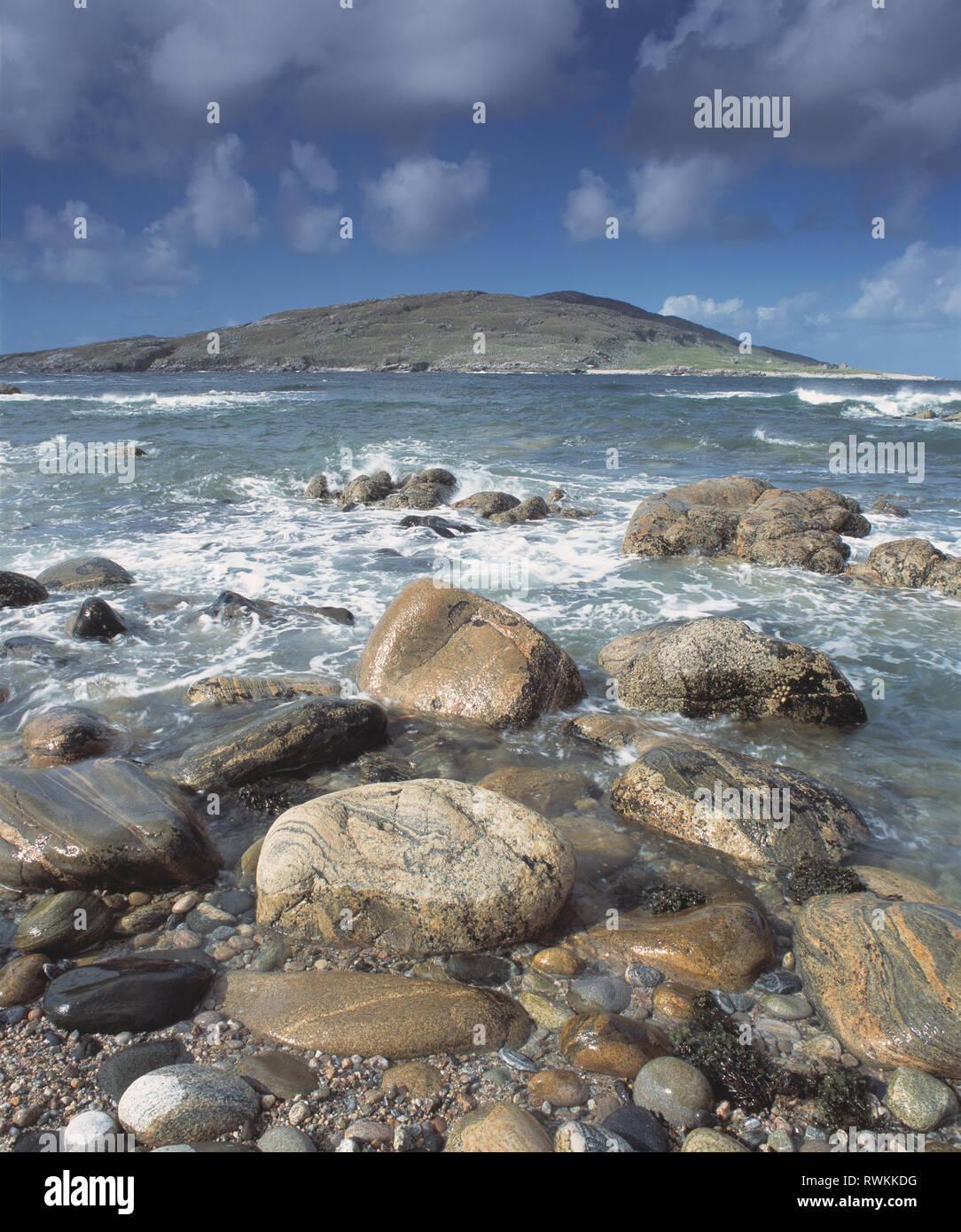 United Kingdom. Scotland. Outer Hebrides. Isle of Harris. Hushinish. Coast. Stock Photo