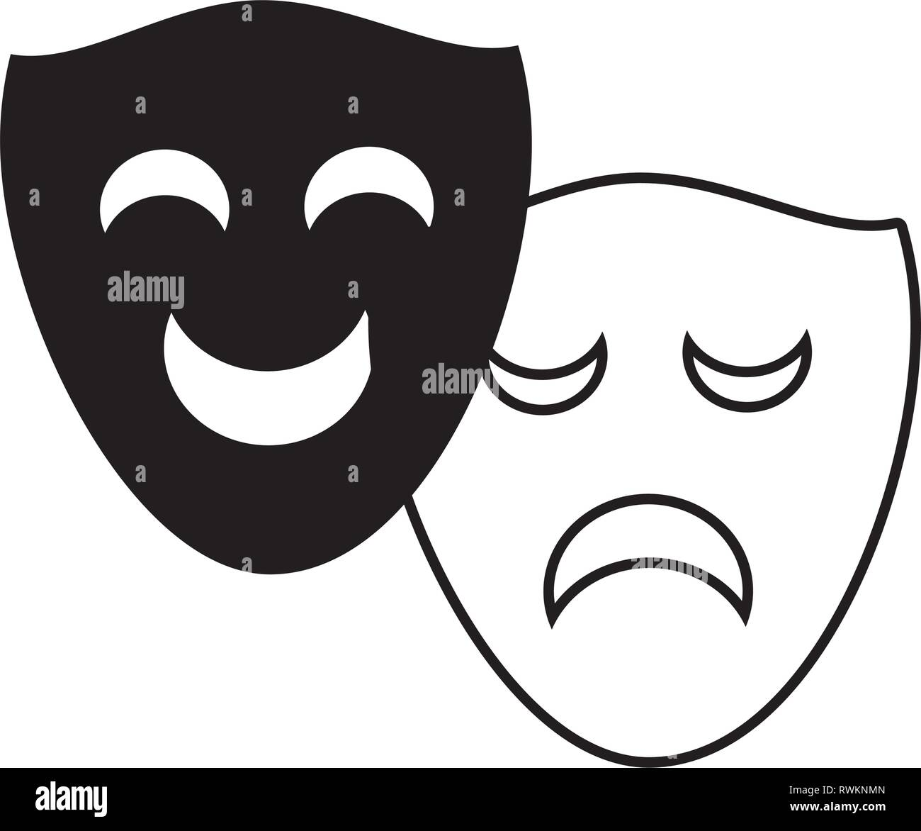 Comedy And Tragedy Masks Stock Photos & Comedy And Tragedy Masks