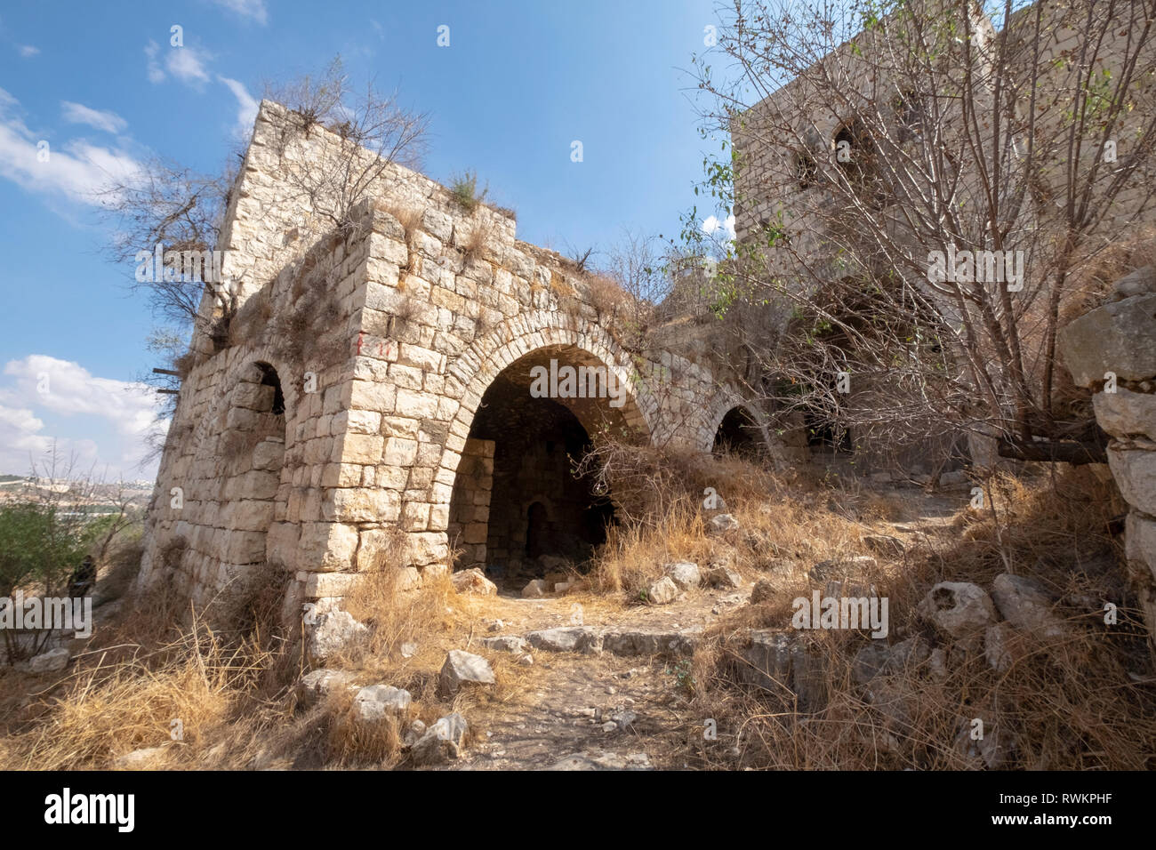 Deserted Arab village, Lifta, Jerusalem, Israel - Stock Image