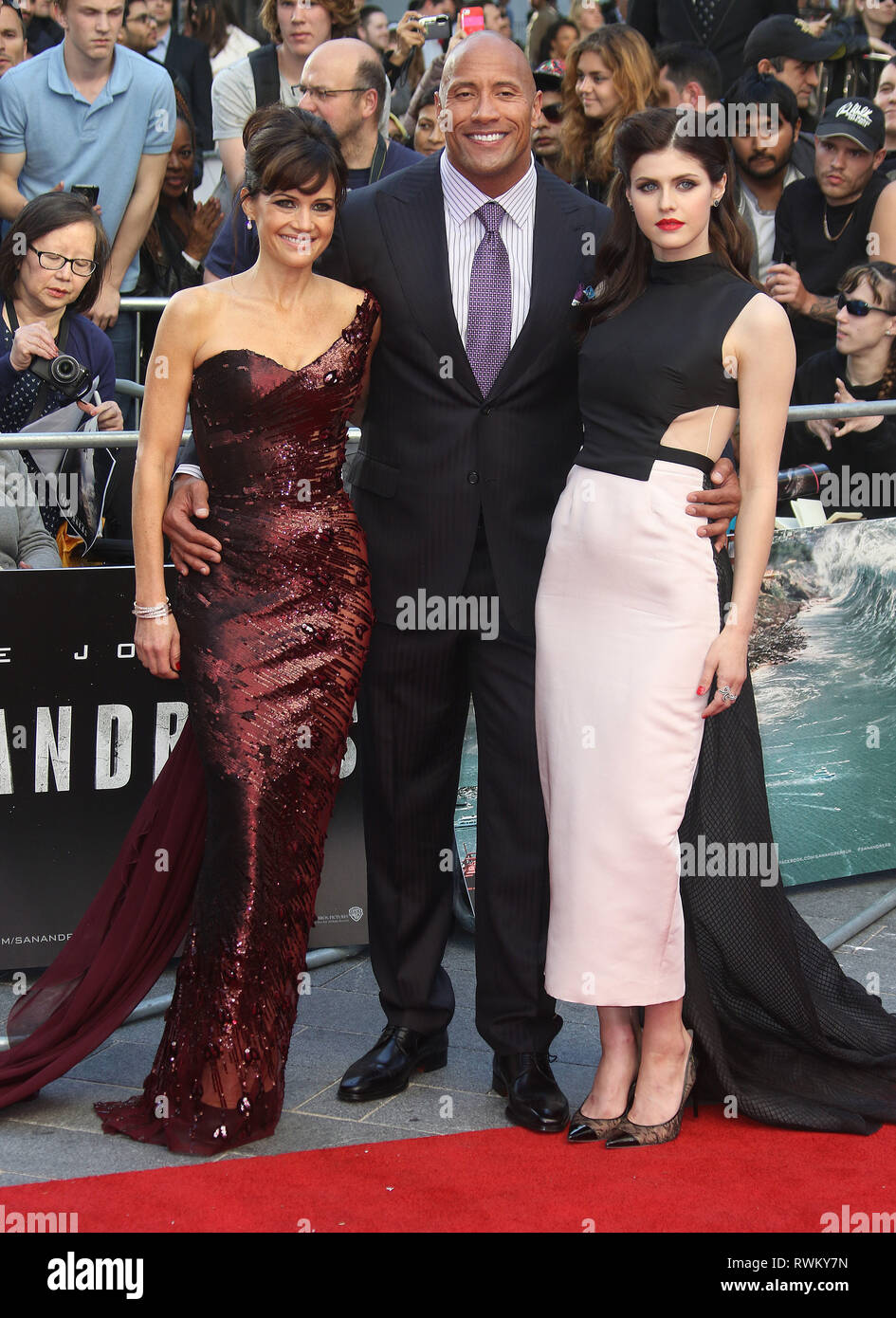 May 21 2017 London England Uk San Andreas World Premiere Odeon Leicester Square Arrivals Photo Shows From Left To Right Carla