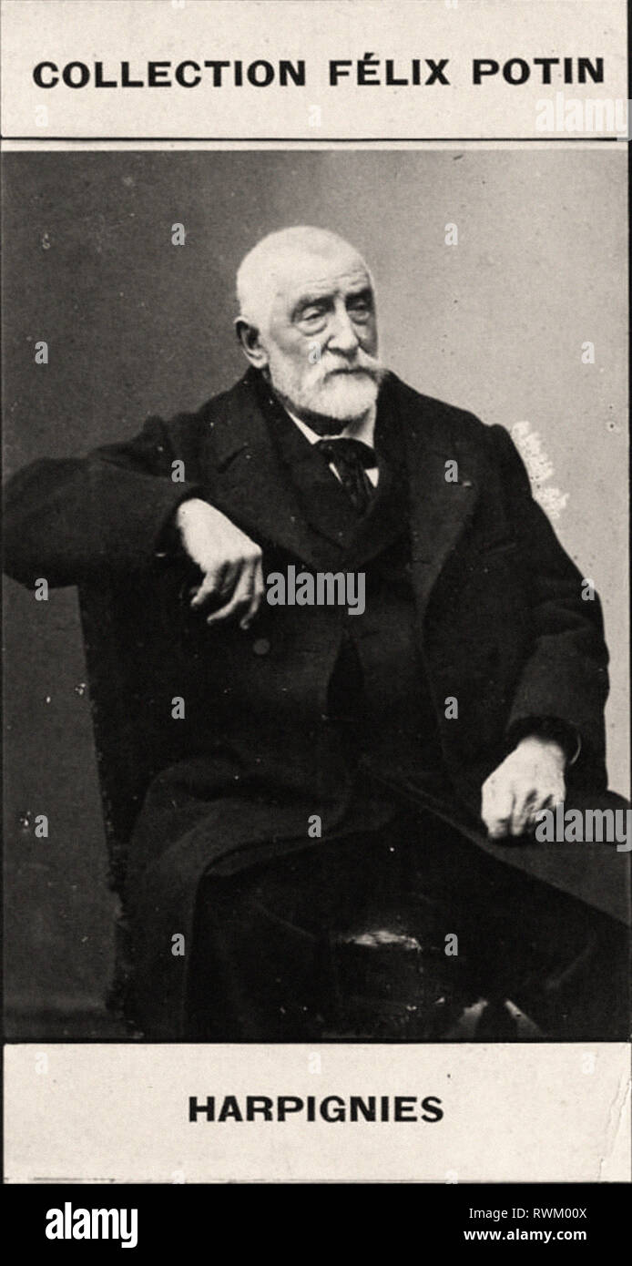 Photographic portrait of Harpignies  - From First COLLECTION FÉLIX POTIN, 19th century - Stock Image