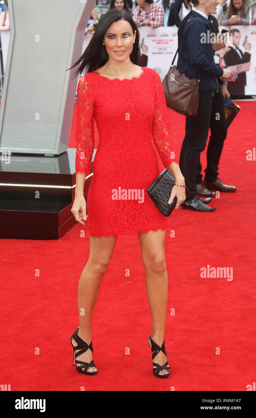 May 27, 2015 - London, England, UK - Spy European Premiere, Odeon Leicester Square - Red Carpet Arrivals Photo Shows: Linzi Stoppard - Stock Image