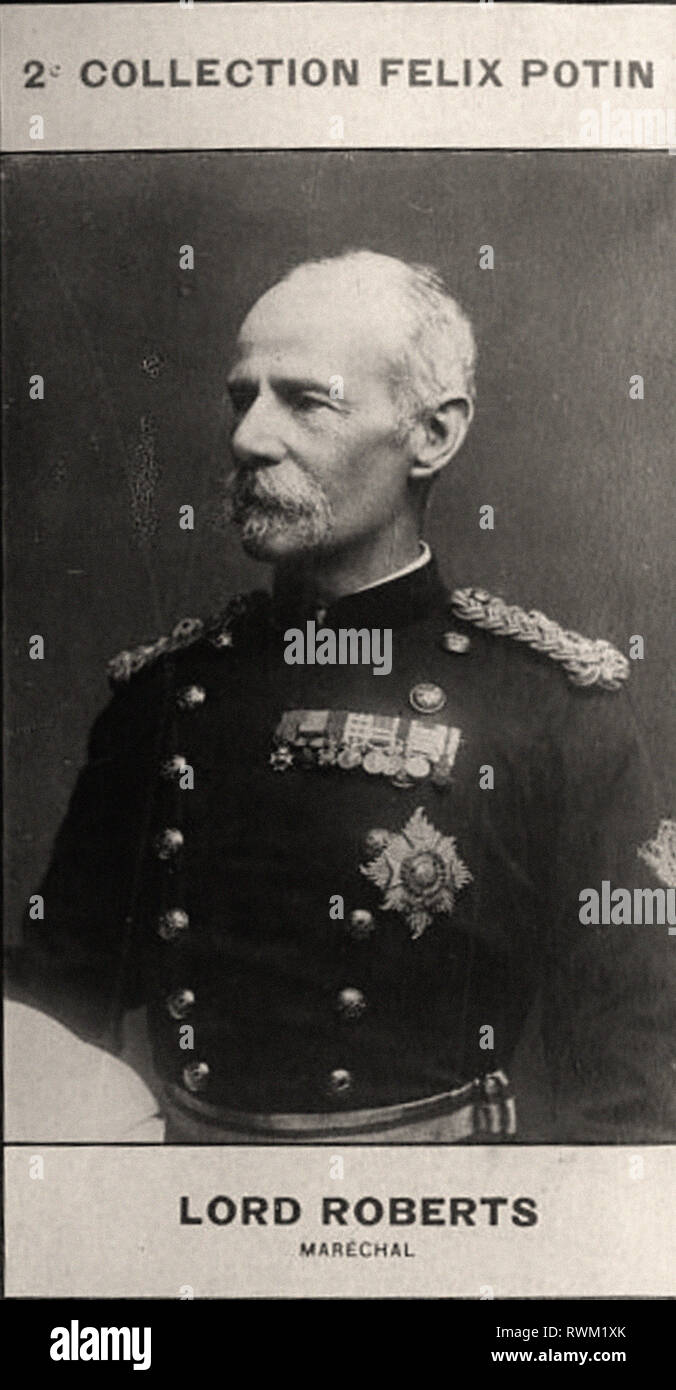 Photographic portrait of Lord Roberts  - From 2e COLLECTION FÉLIX POTIN, early 20th century - Stock Image