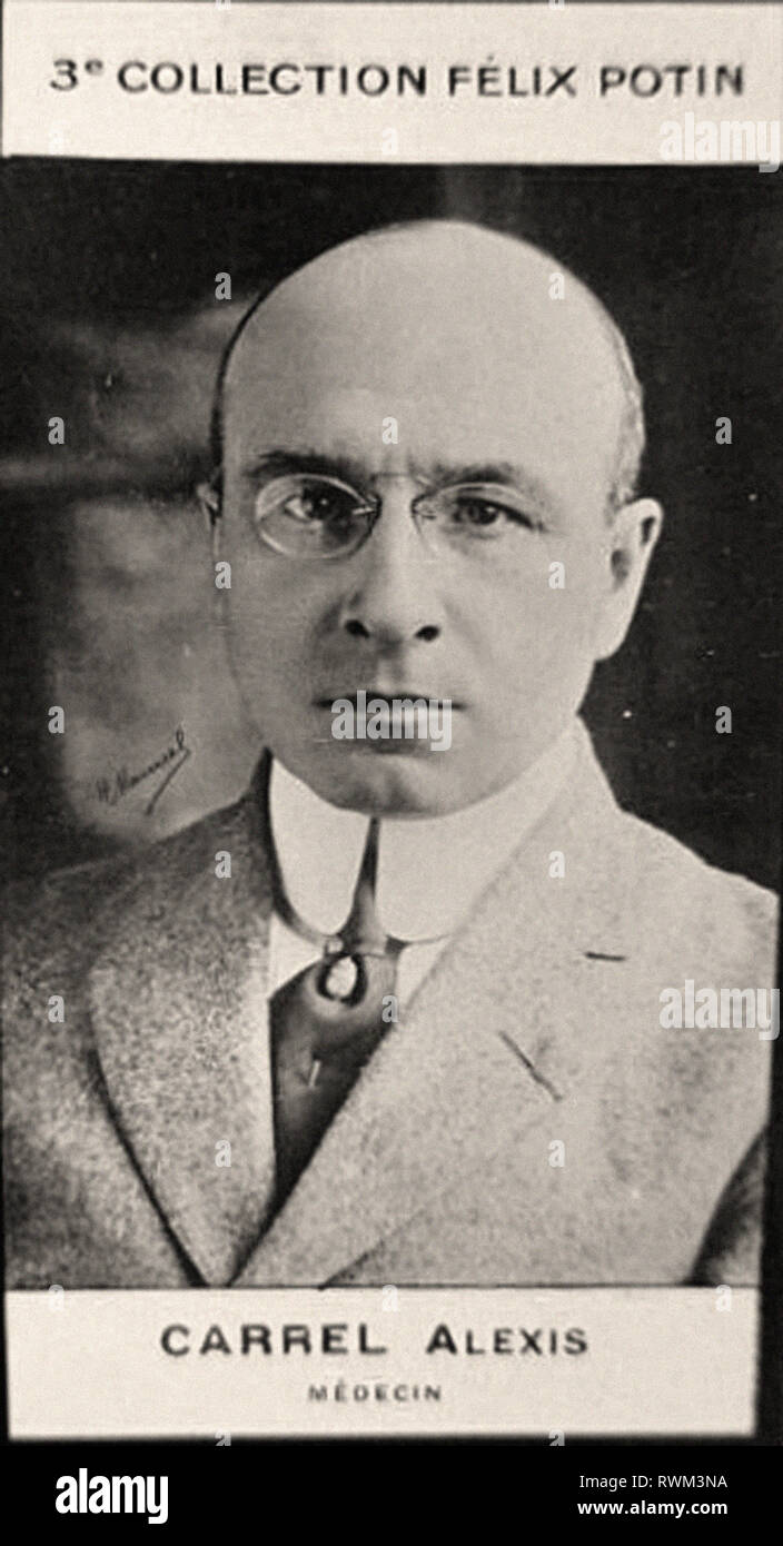 Photographic portrait of Carell, Alexis - From 3rd COLLECTION FÉLIX POTIN, Early 20th century - Stock Image