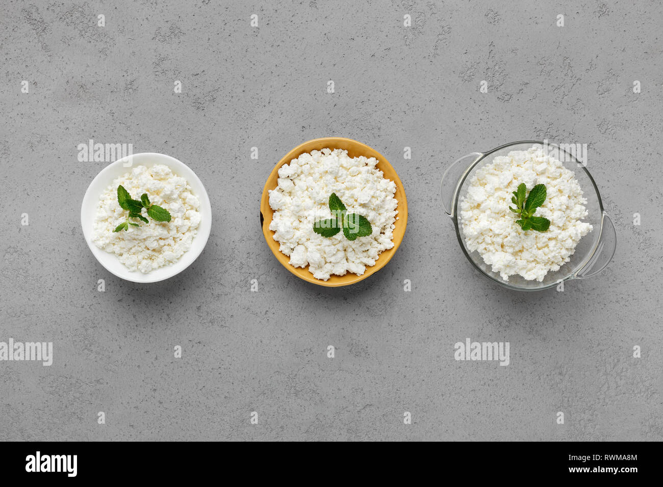 Homemade curd concept - Stock Image